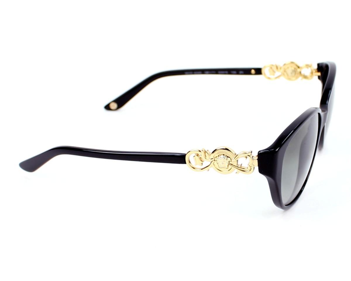 Lunettes de soleil Versace VE-4245 GB111 - Noir Or vue de côté b568b08acfd2