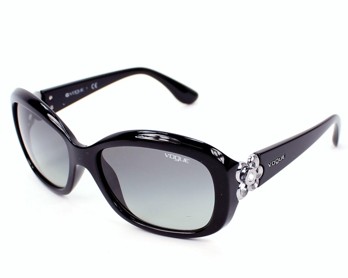 lunettes de soleil vogue vo 2846 sb w44 11 noir avec des verres gris. Black Bedroom Furniture Sets. Home Design Ideas