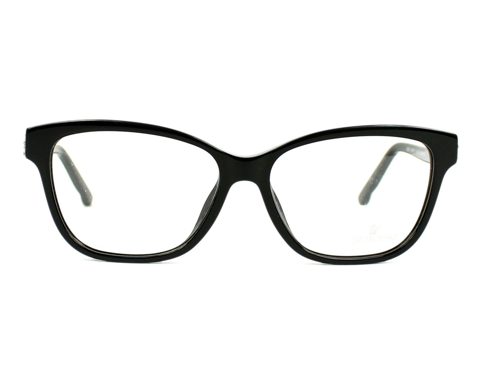 Lunettes de vue Swarovski SW-5171 001 53-14 Noir Noir vue de face 71a89f857cb1