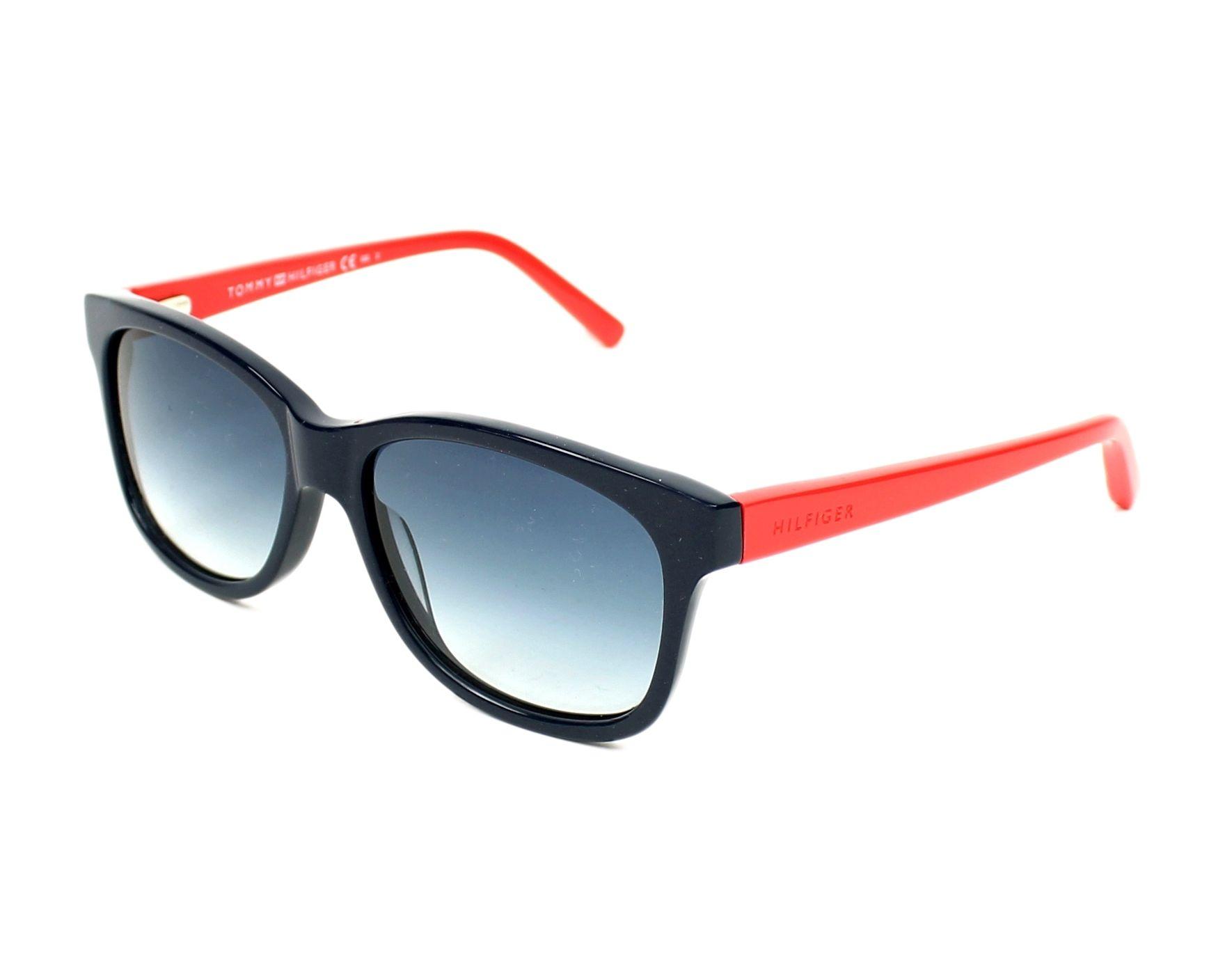 lunettes de soleil tommy hilfiger th 1073 s 406 08 bleu avec des verres bleu. Black Bedroom Furniture Sets. Home Design Ideas