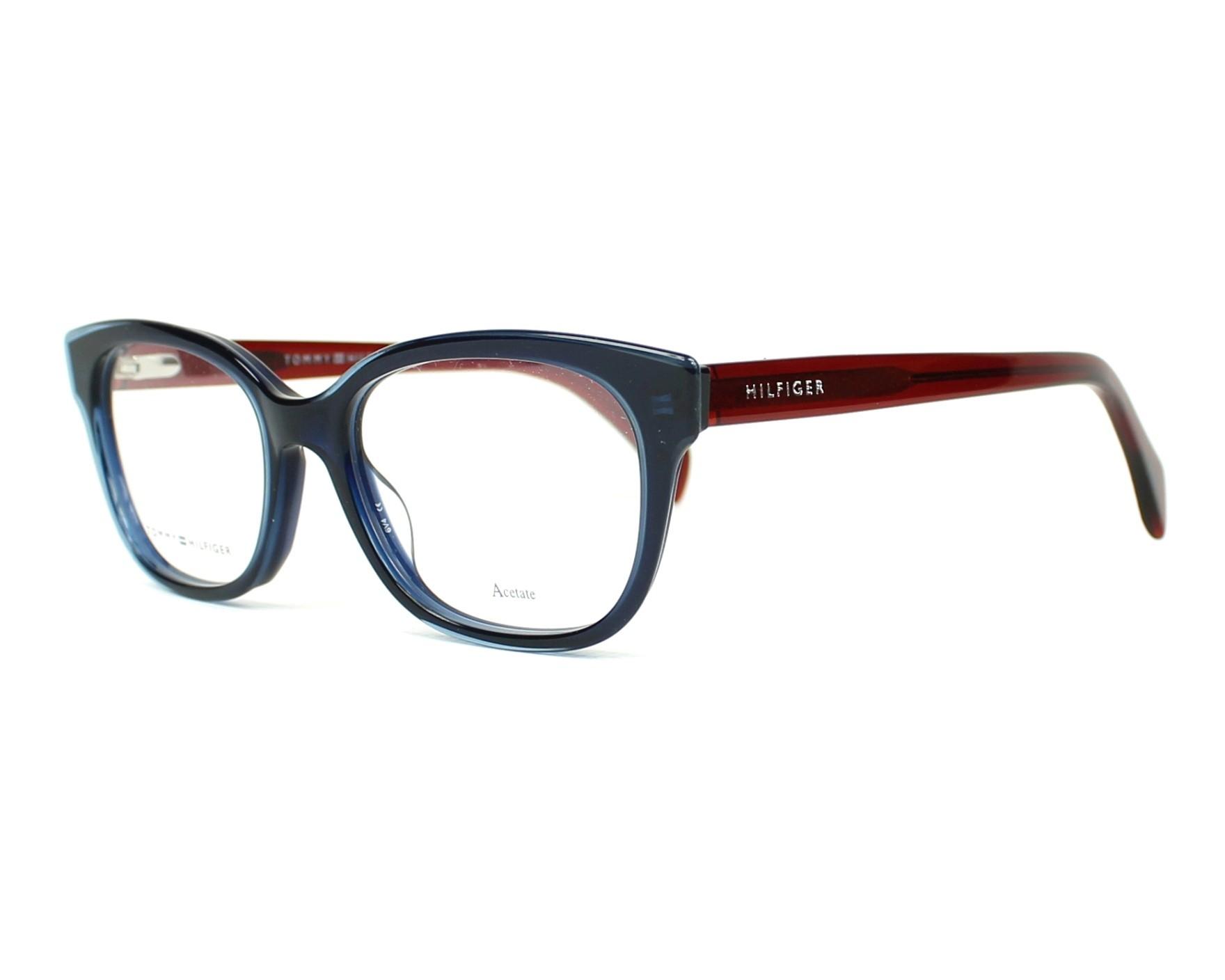 lunettes de vue tommy hilfiger th 1439 l0j bleu monture femmes. Black Bedroom Furniture Sets. Home Design Ideas