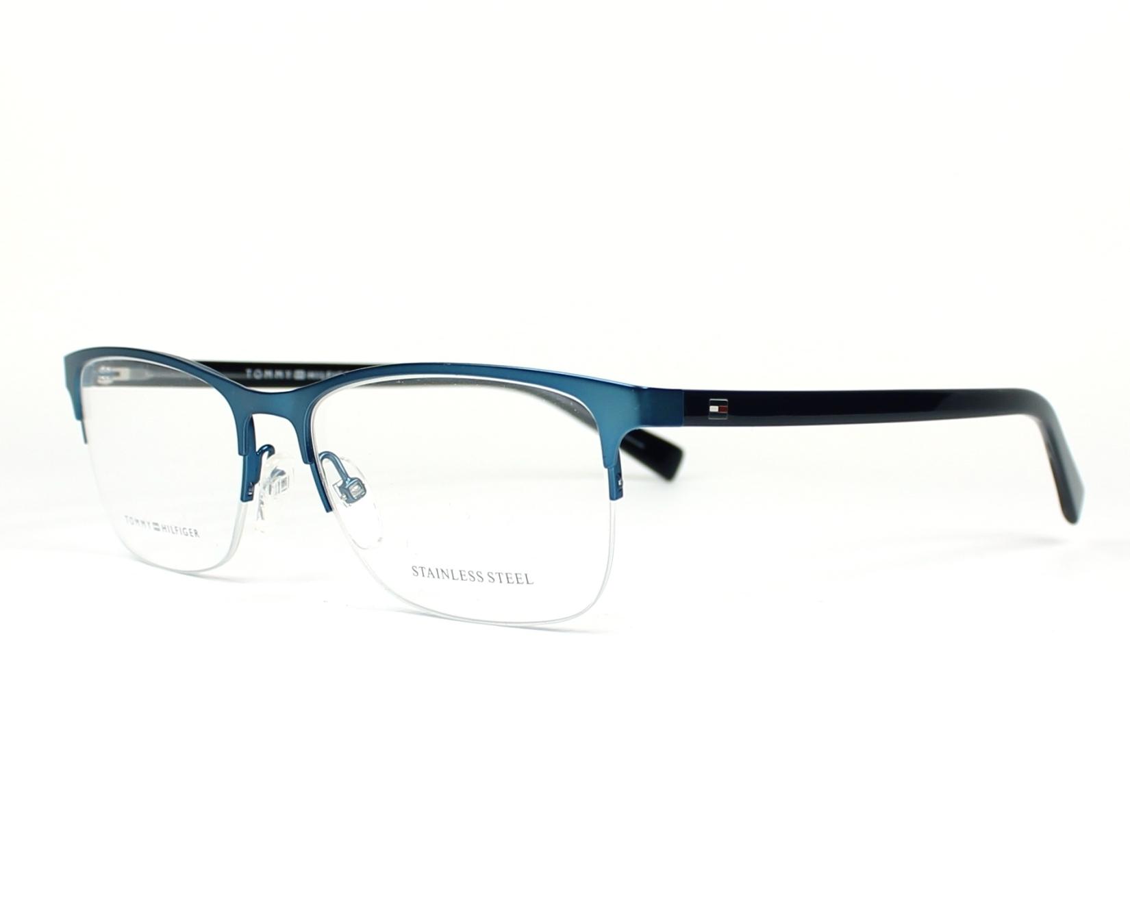 lunettes de vue tommy hilfiger th 1453 b40 bleu. Black Bedroom Furniture Sets. Home Design Ideas