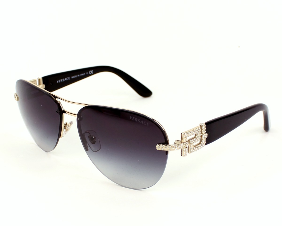 versace sunglasses ve 2159 b 1252 8g gold visionet