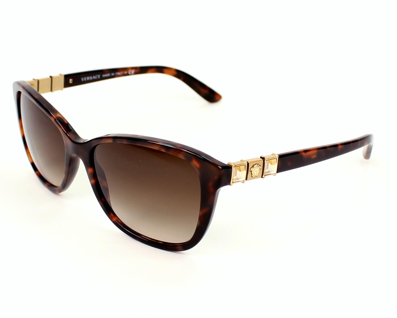 lunettes de soleil versace ve 4293 b 944 13 havane avec des verres marron. Black Bedroom Furniture Sets. Home Design Ideas