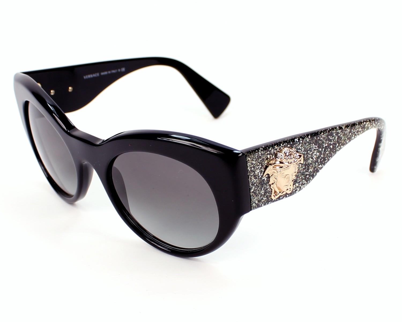 1de08c4d477 Lunettes de soleil Versace VE-4297 5156 11 - Noir Noir vue de profil