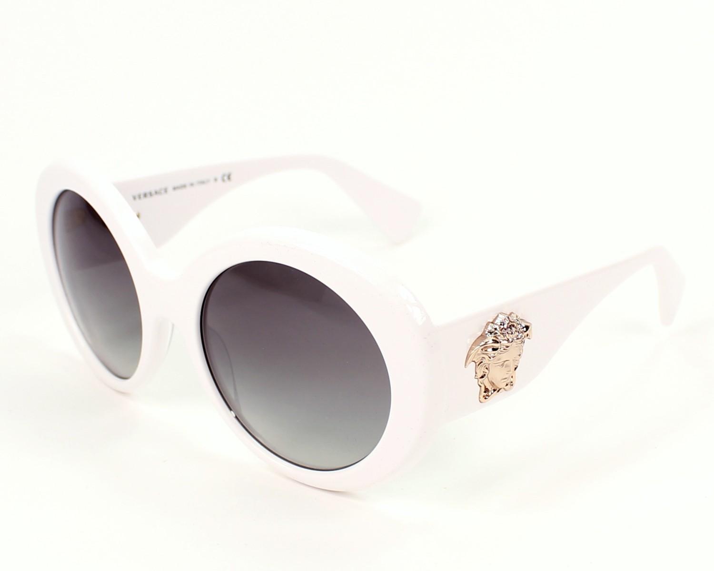 Lunettes de soleil Versace VE-4298 404 11 - Blanc vue de profil ab348da58fe5