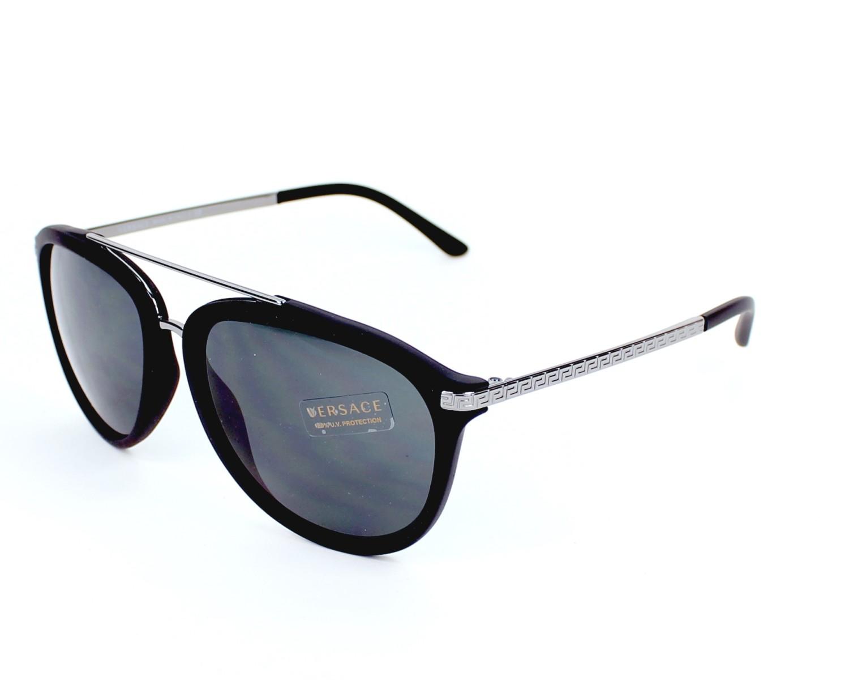 lunettes de soleil versace ve 4299 5141 87 noir avec des verres gris. Black Bedroom Furniture Sets. Home Design Ideas