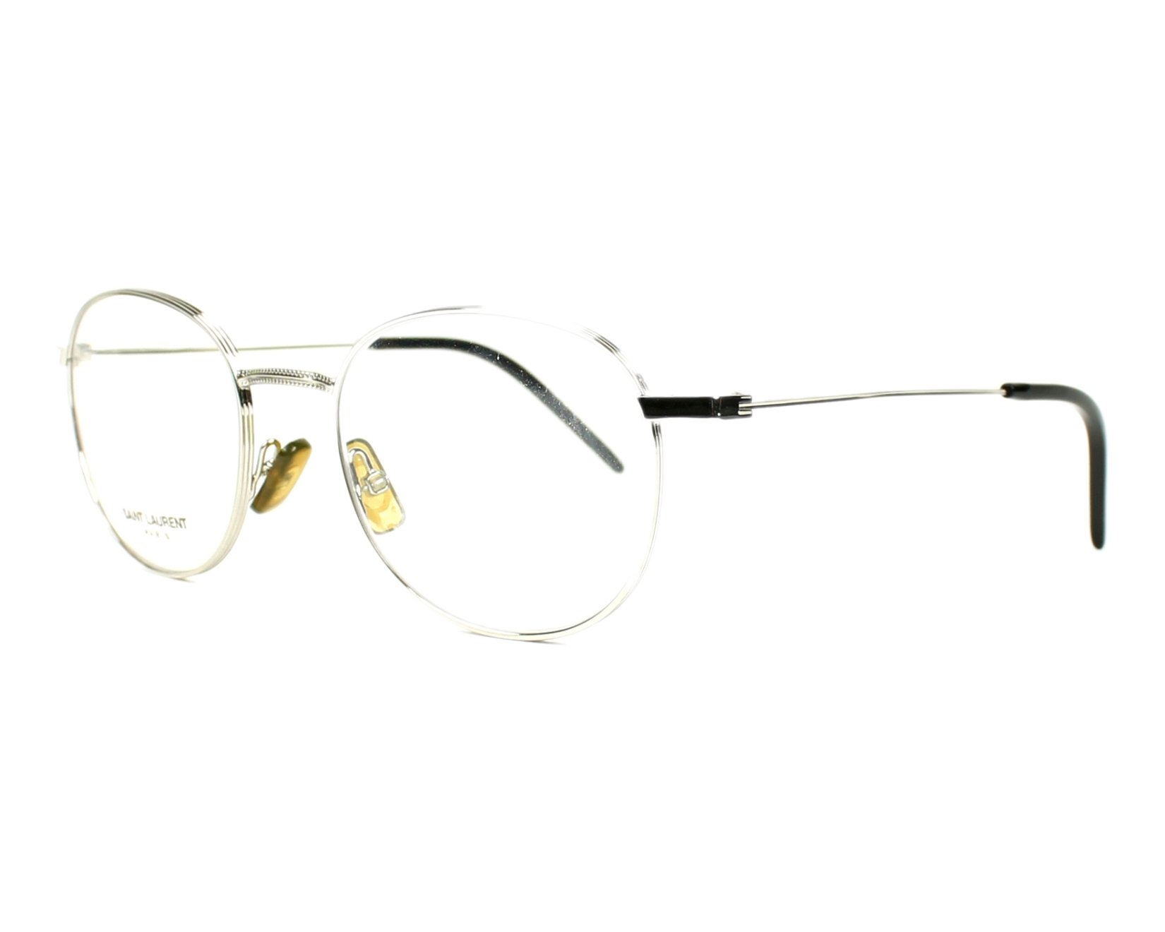 Yves saint laurent eyeglasses sl 71 010 silver visionet for Miroir yves saint laurent