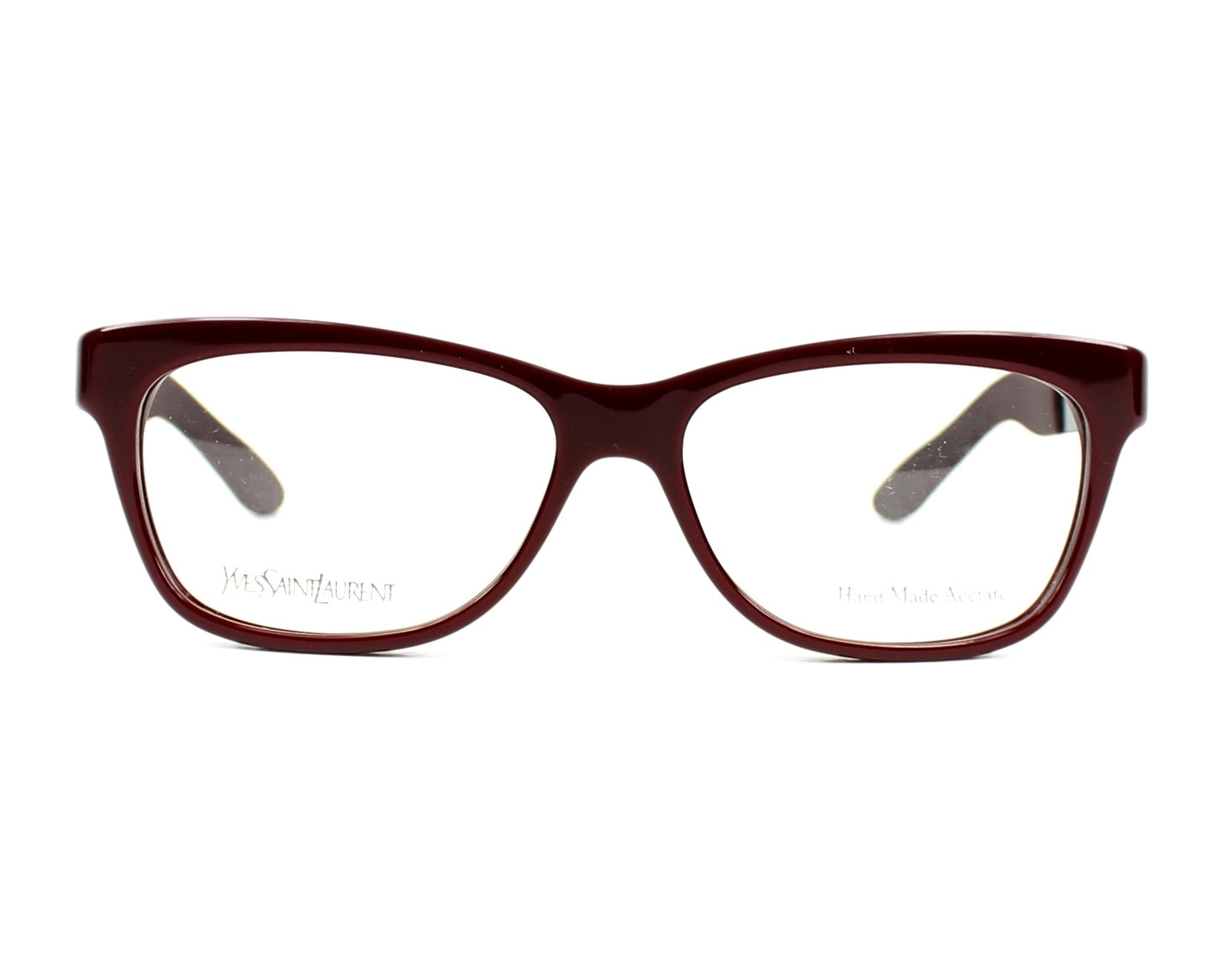 Yves saint laurent eyeglasses ysl 6367 pl5 bordeaux visionet for Miroir yves saint laurent