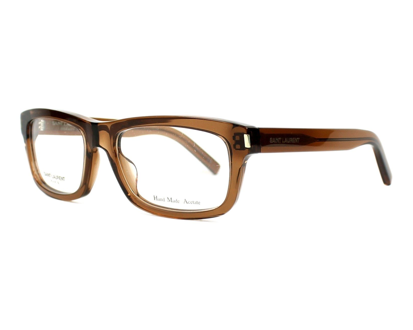 Yves saint laurent eyeglasses yves 1 k7m brown visionet for Miroir yves saint laurent