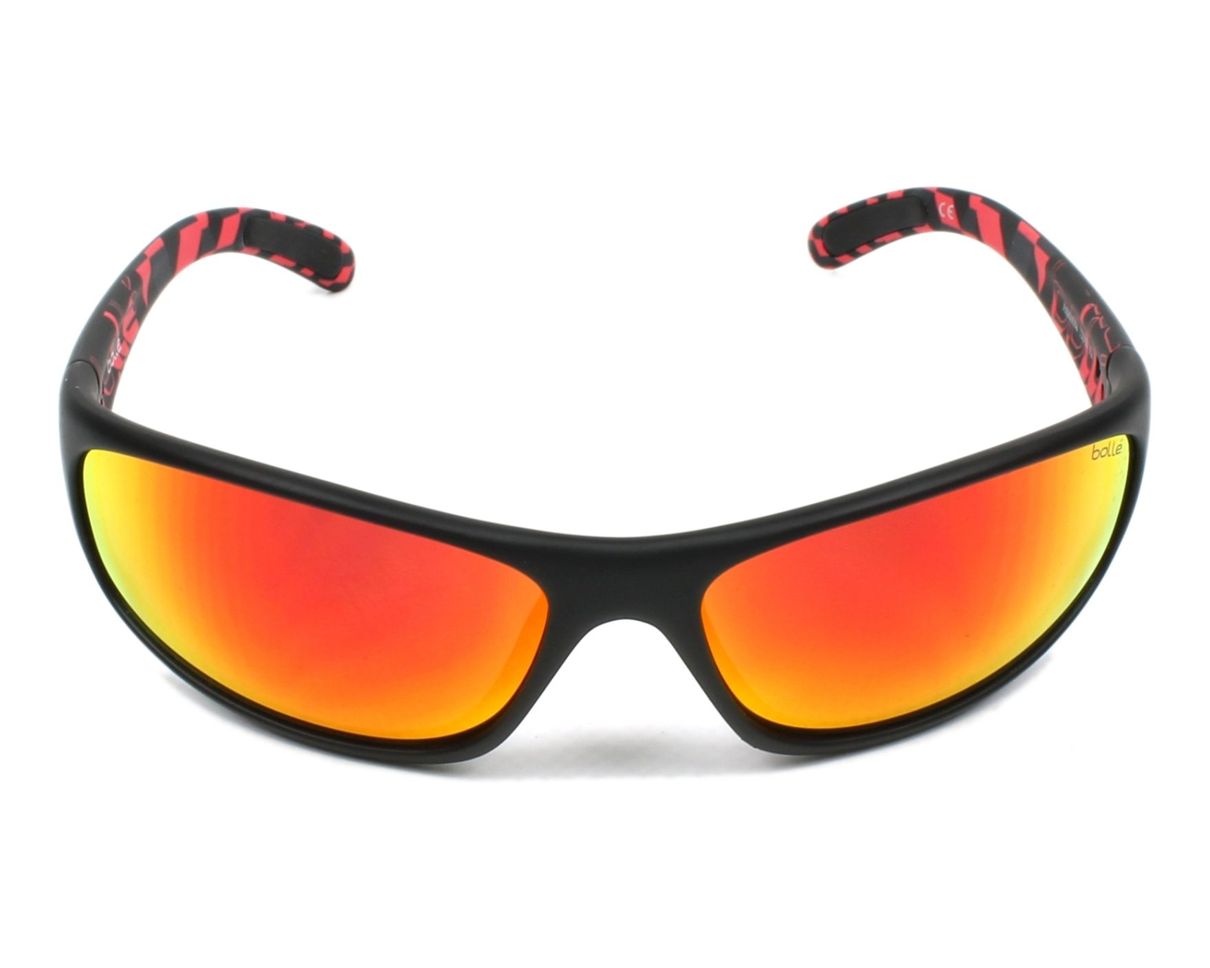 f124b8c94a14fe Lunettes de soleil Bollé ANACONDA 12080 - Noir Rouge vue de face