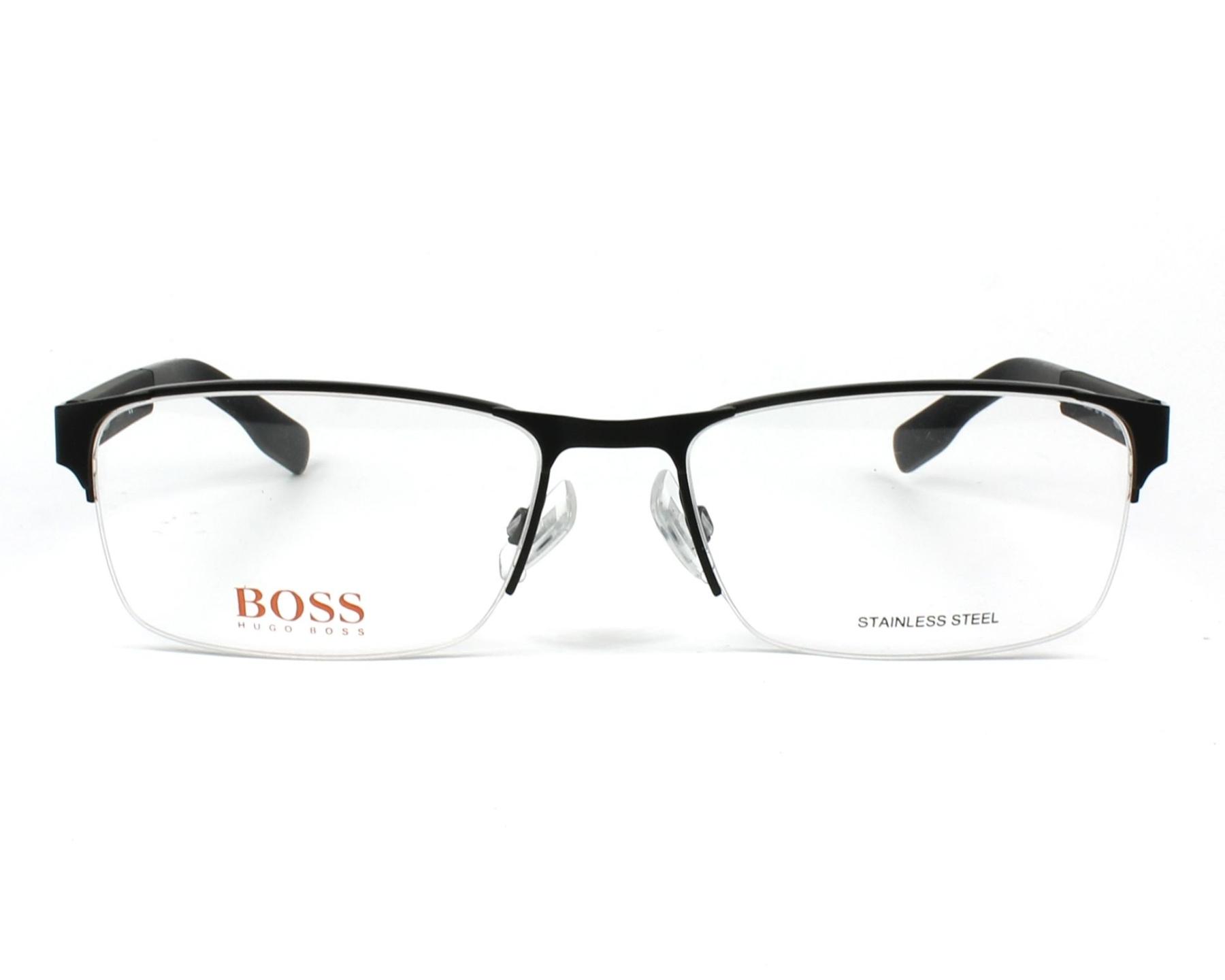 00e1a5b2ab7ee6 Lunettes de vue Boss Orange BO-0296-F 003 - Noir Noir vue de