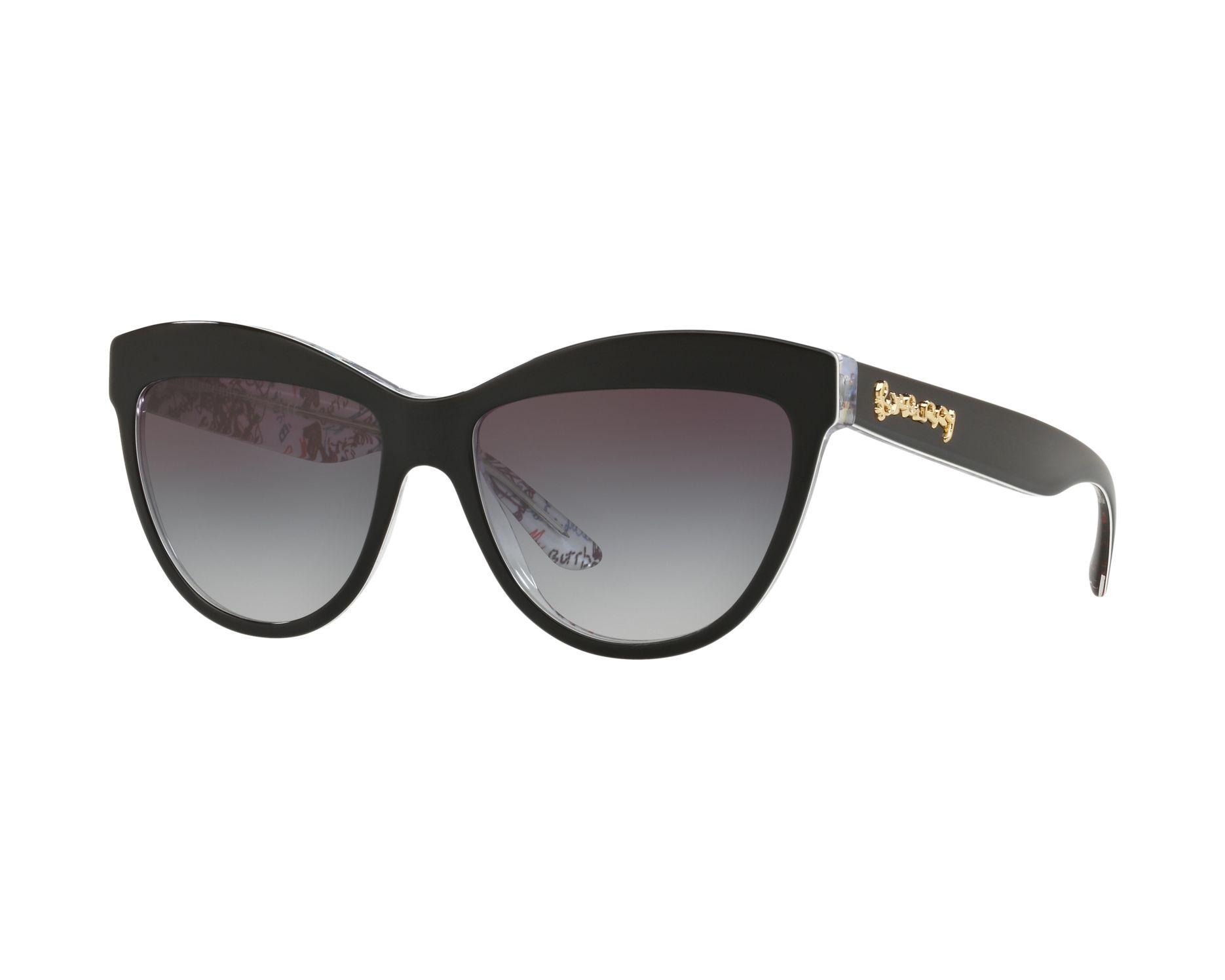 Lunettes de soleil burberry be 4267 37138g noir avec des verres gris - Verre lunette raye assurance ...
