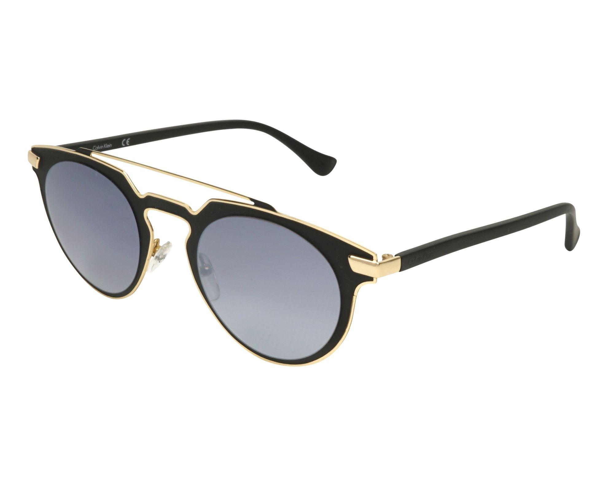 lunettes de soleil calvin klein ck 2147 s 001 noir avec des verres gris. Black Bedroom Furniture Sets. Home Design Ideas