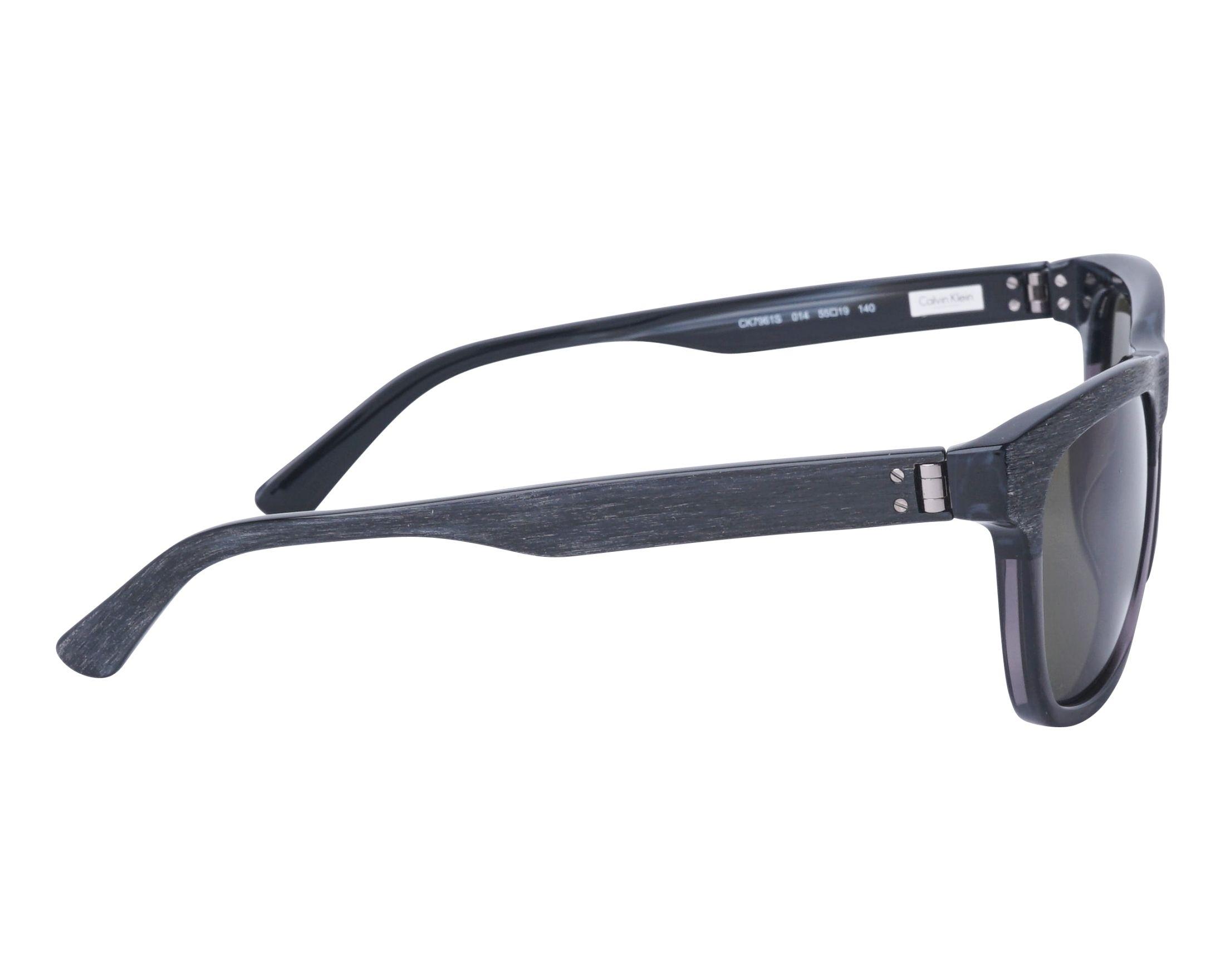 Lunettes de soleil calvin klein ck 7961 s 014 noir avec des verres vert - Verre lunette raye assurance ...
