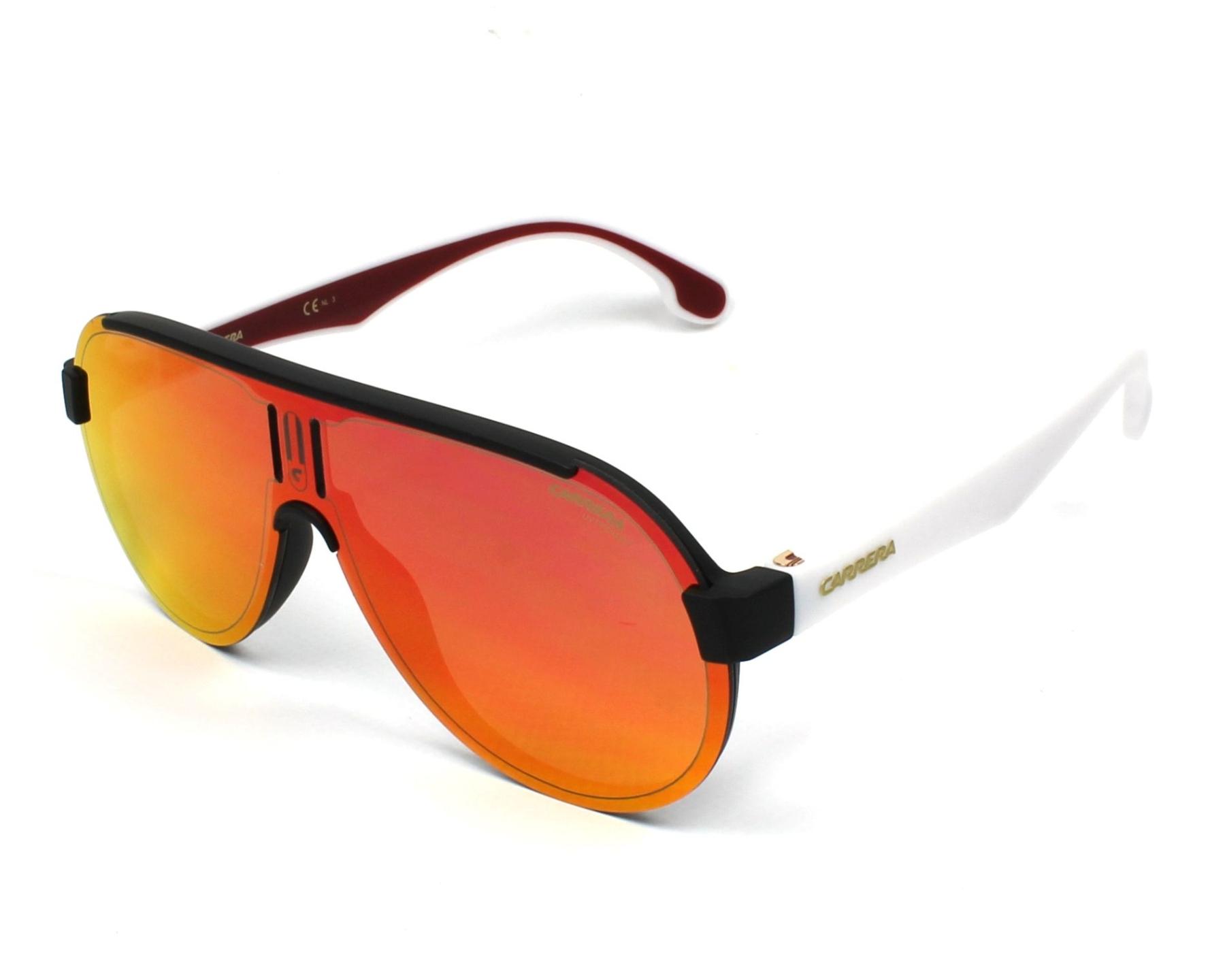 lunettes de soleil carrera 1008 s 4nl uz noir avec des verres gris. Black Bedroom Furniture Sets. Home Design Ideas
