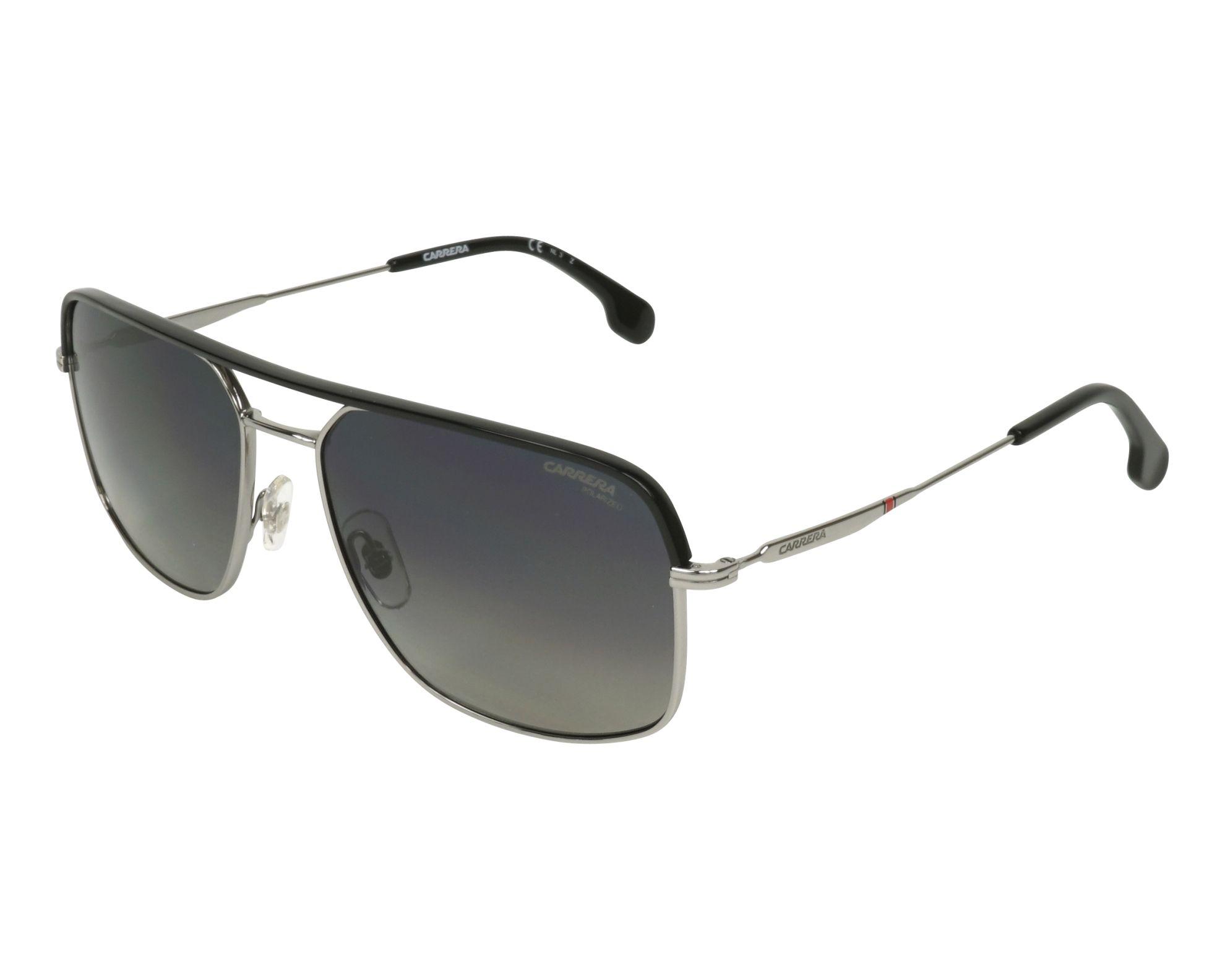 5019c26187ce29 Lunettes de soleil Carrera 152-S 85K WJ 60-17 Noir Argent vue