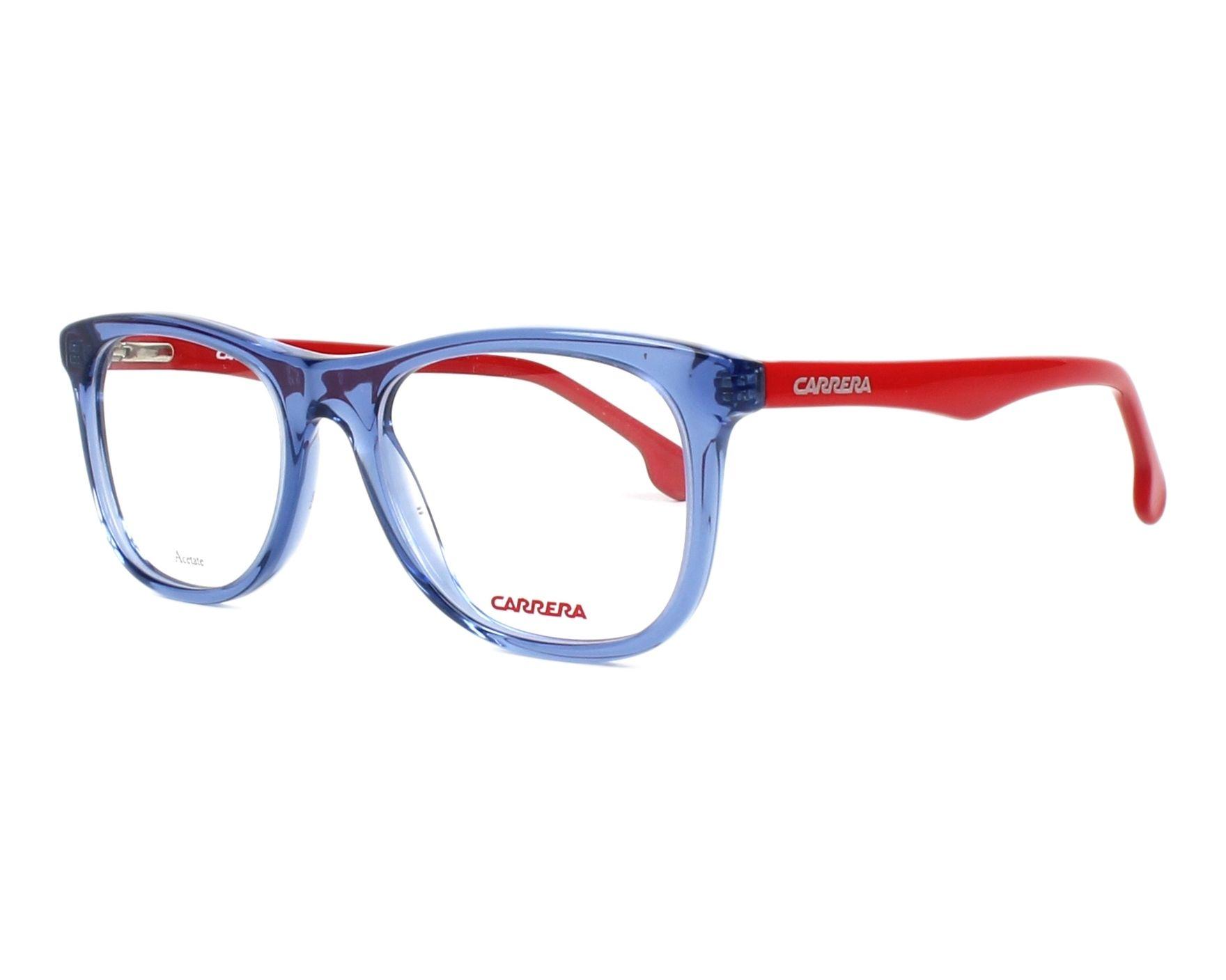 Lunettes de vue Carrera CARRERINO-63 8RU 49-18 Bleu Rouge vue de profil 0bdfeca6314d