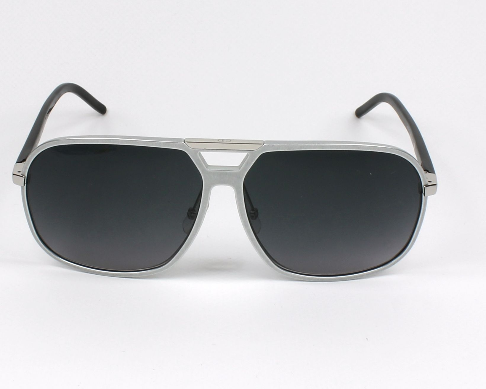 lunettes de soleil christian dior al 13 4 fs 53j argent avec des verres gris bleu. Black Bedroom Furniture Sets. Home Design Ideas