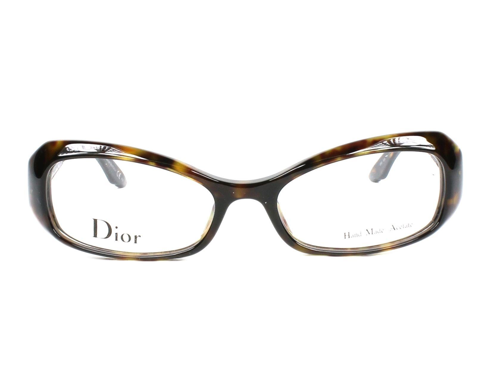 Lunettes de vue Christian Dior CD-3213 086 52-17 Havane vue de face d2ffe0b87ba0
