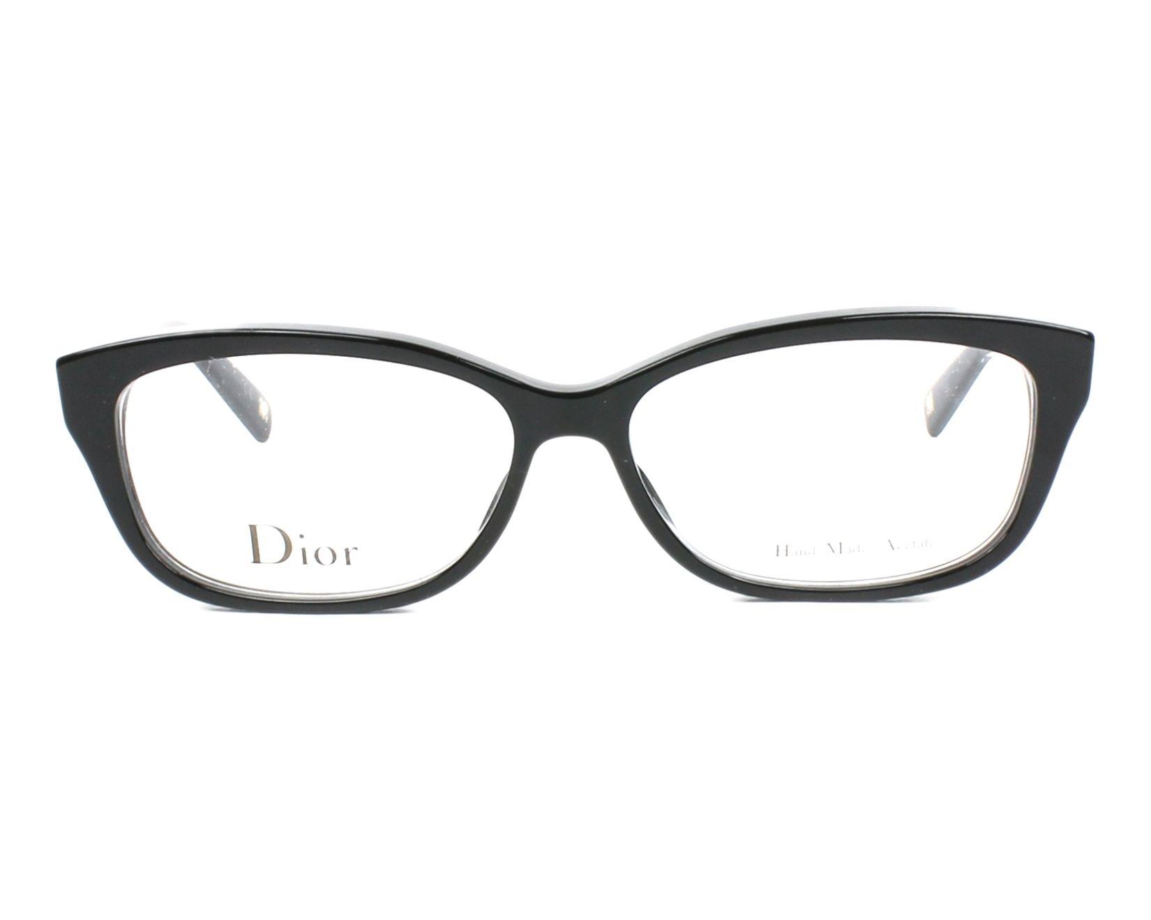 26cf6600ccb0c3 Lunettes de vue Christian Dior CD-3258 RHP 52-14 Noir Argent vue de