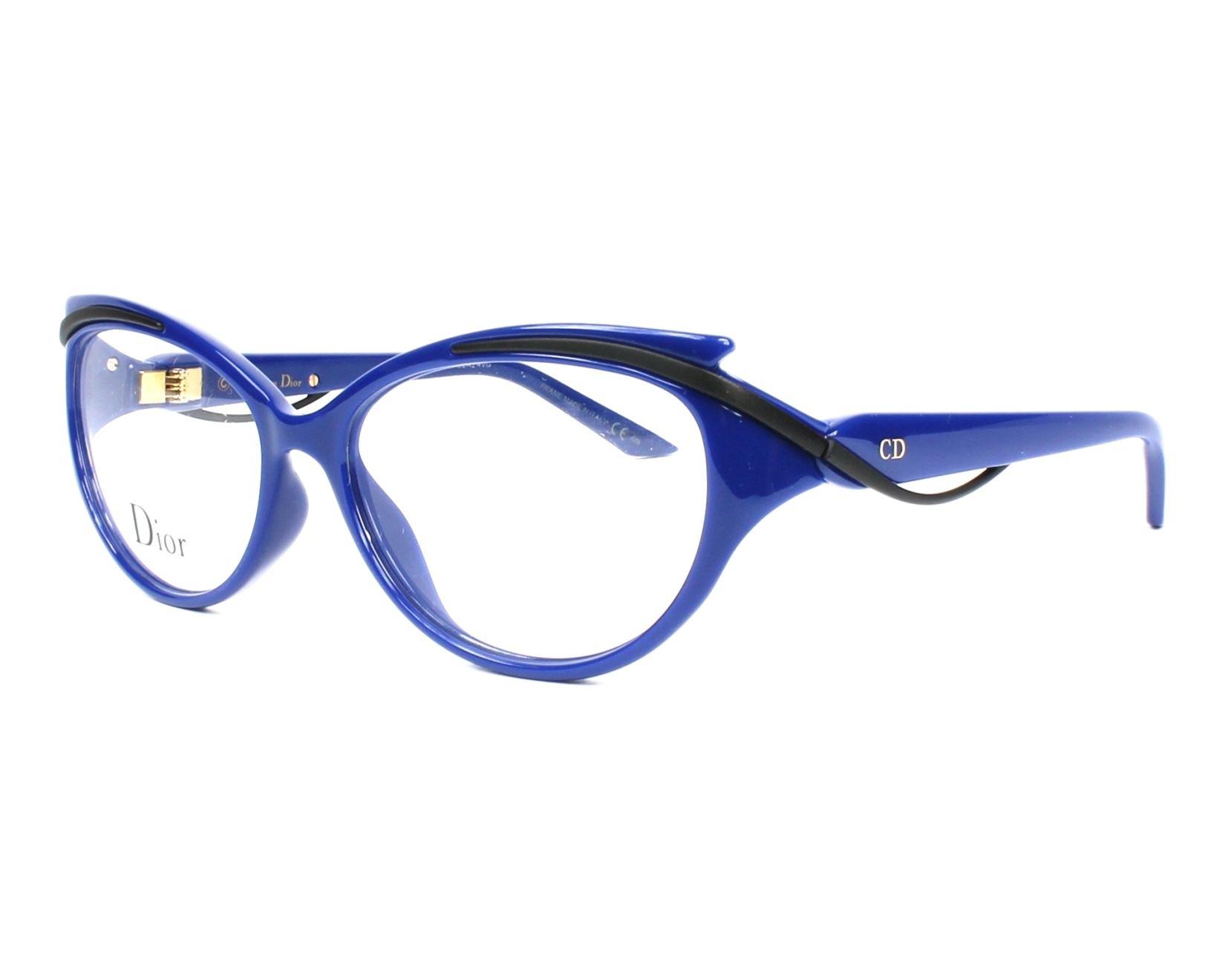 b1350b3c1b0 Lunettes de vue Christian Dior CD-3278 90D - Bleu Noir vue de profil