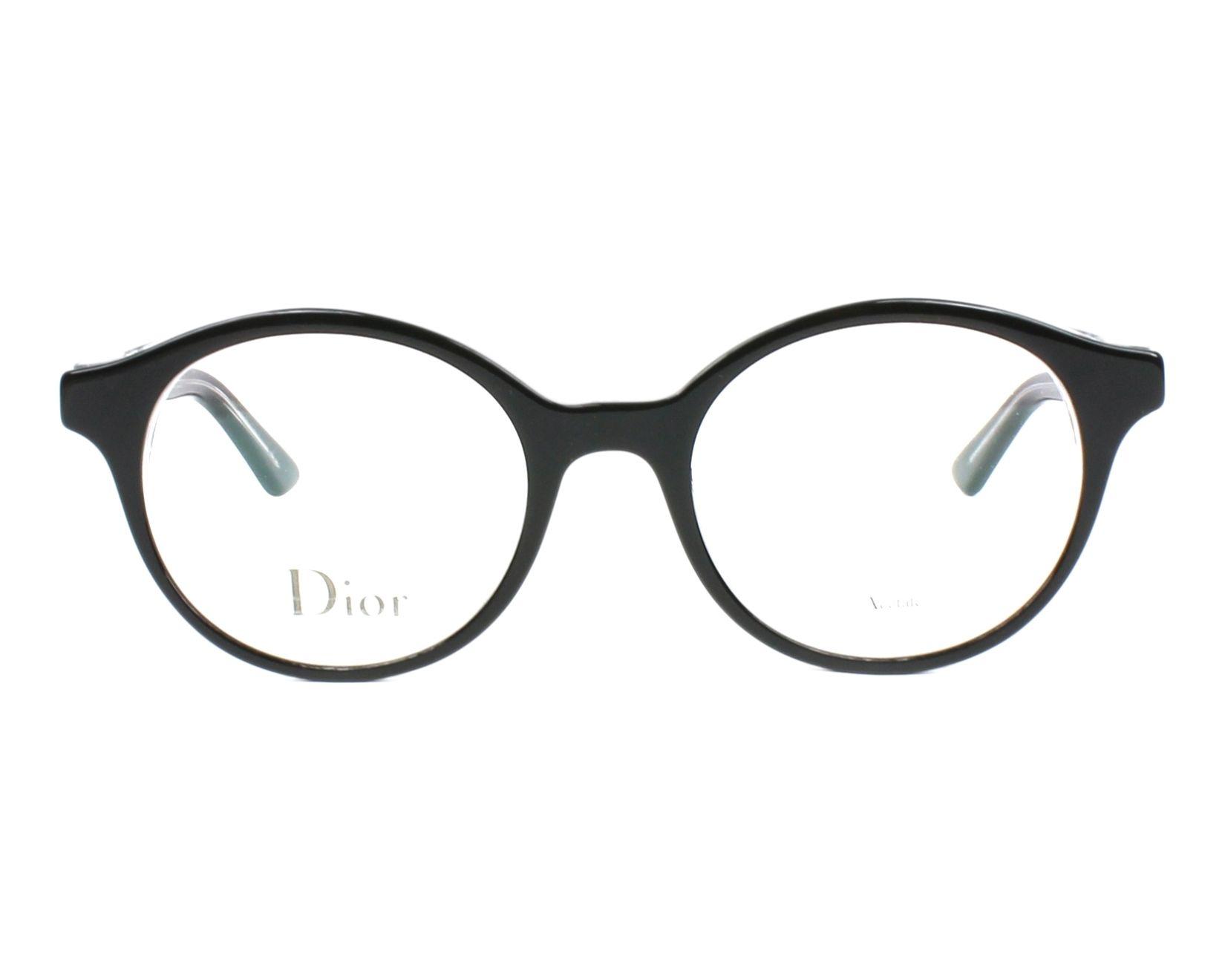 Lunettes de vue Christian Dior MONTAIGNE-2 G99 49-19 Noir Cristal vue de 9d15278a4762