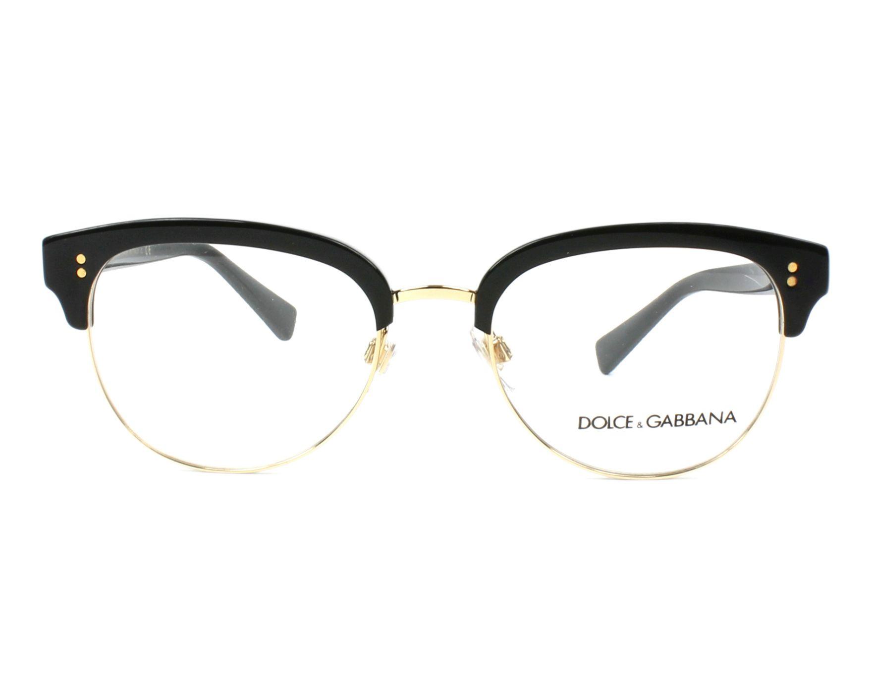 Lunettes de vue Dolce   Gabbana DG-3270 501 52-19 Noir Or vue f8e46c8a360c