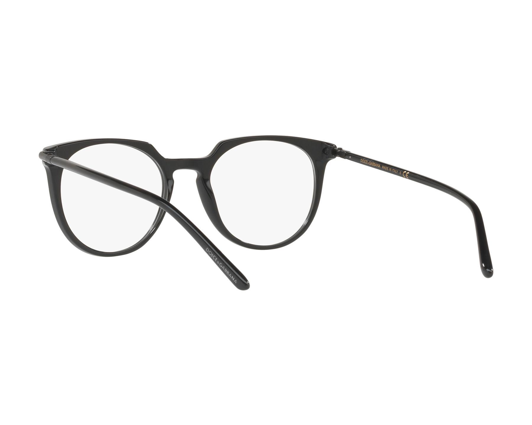396e061ce9 Lunettes de vue Dolce & Gabbana DG-3288 501 50-19 Noir vue 360