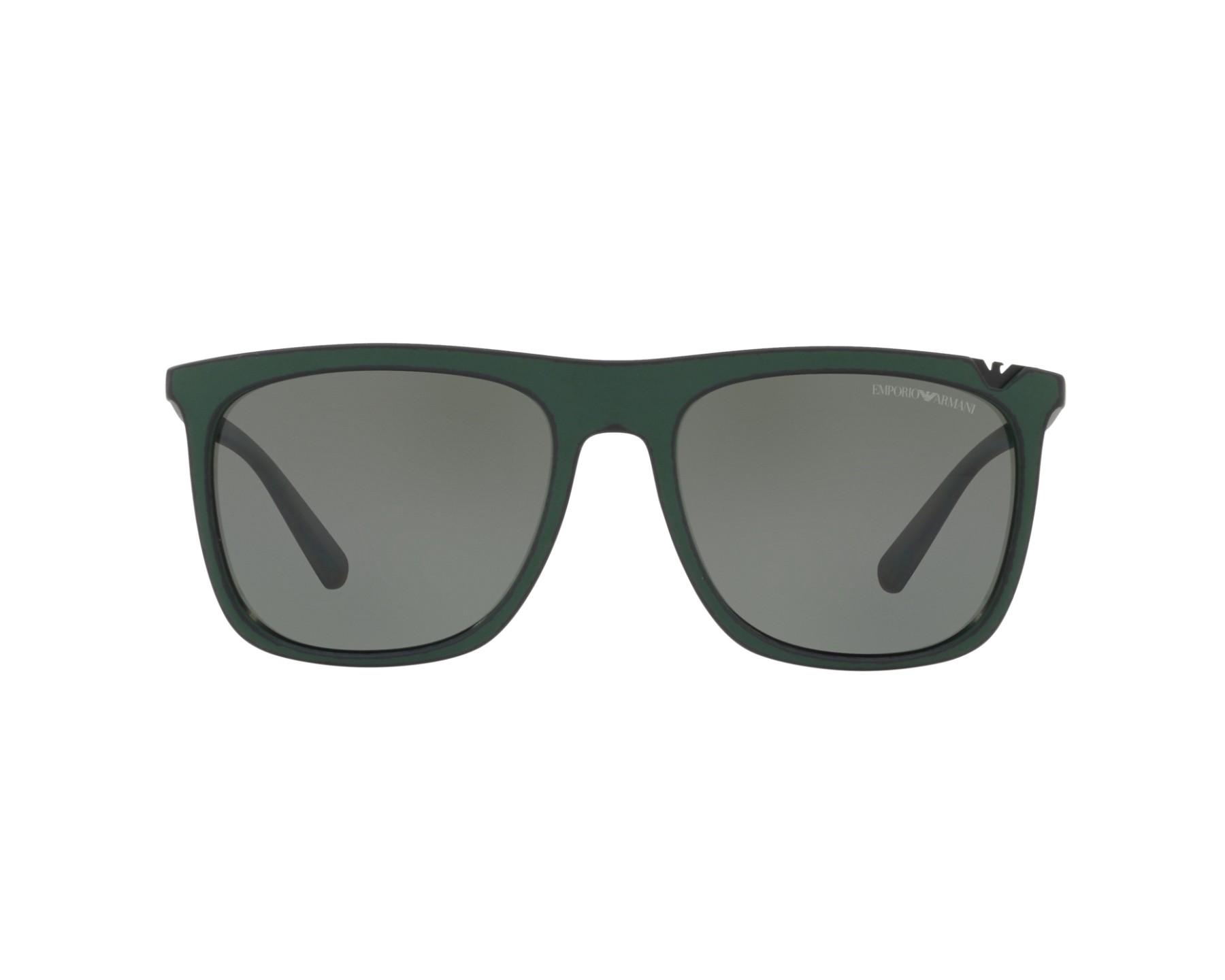 Lunettes de soleil emporio armani ea 4095 55999a vert avec des verres vert - Verre lunette raye assurance ...