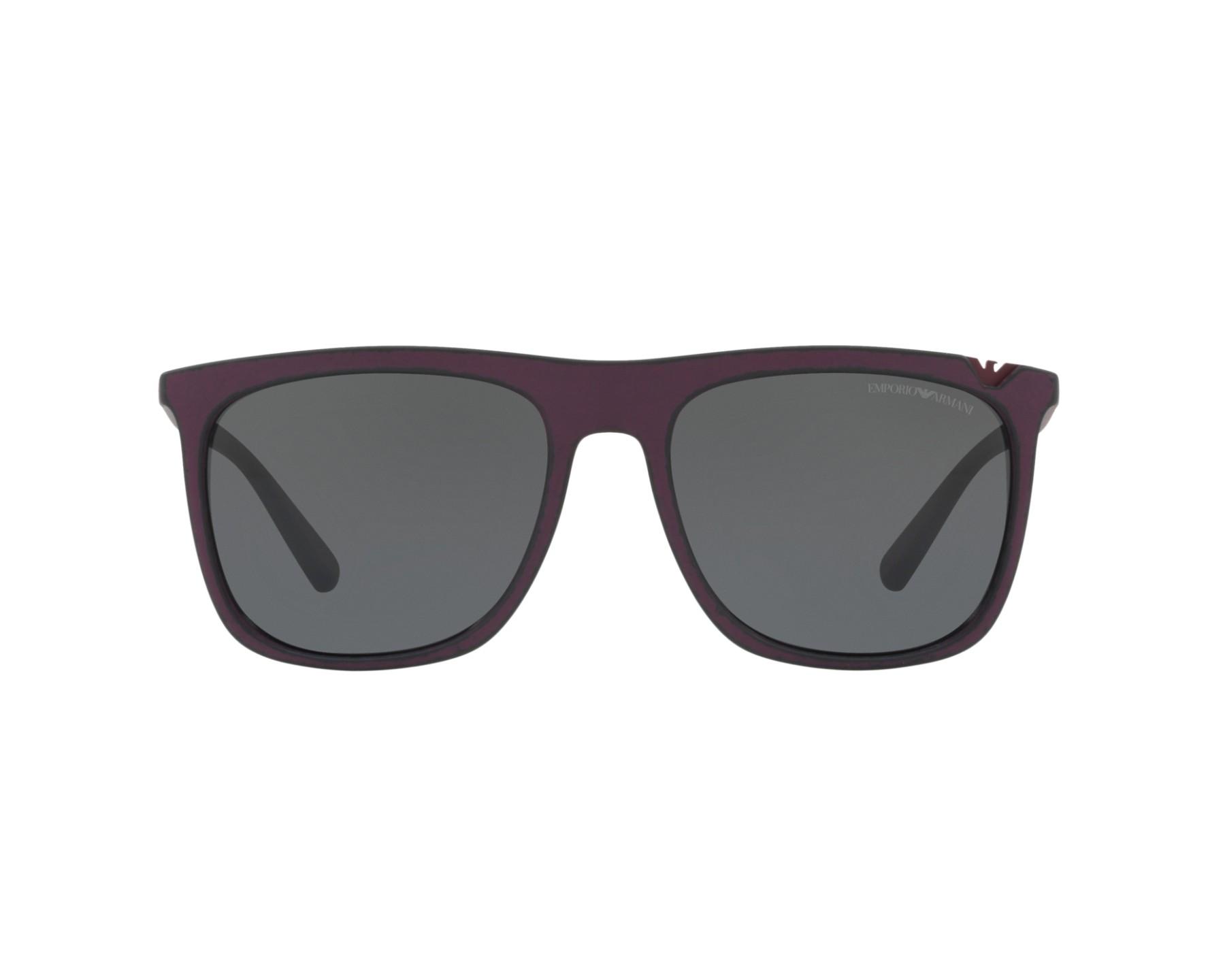 Lunettes de soleil emporio armani ea 4095 560187 marron avec des verres gris - Verre lunette raye assurance ...