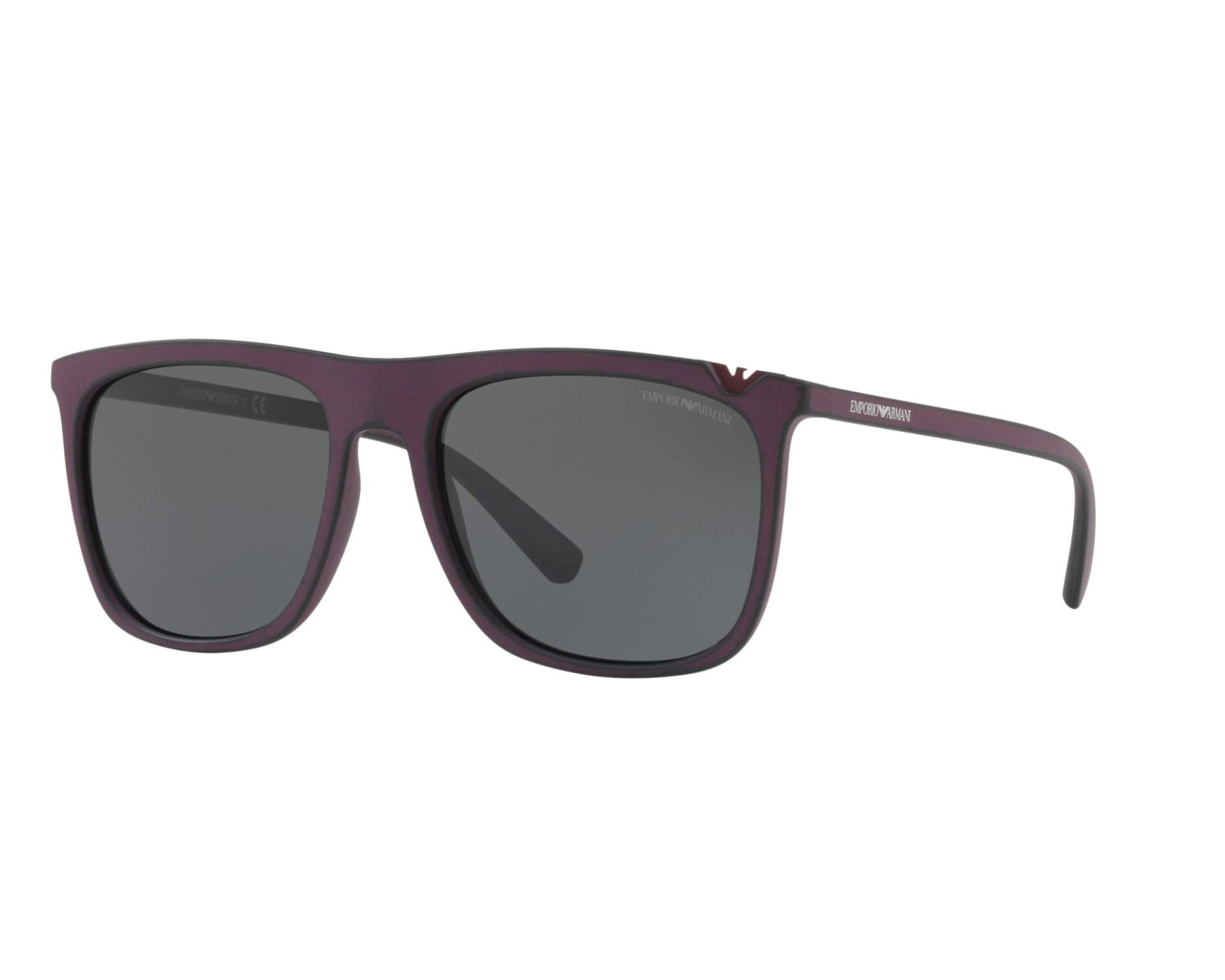 lunettes de soleil emporio armani ea 4095 560187 marron avec des verres gris. Black Bedroom Furniture Sets. Home Design Ideas