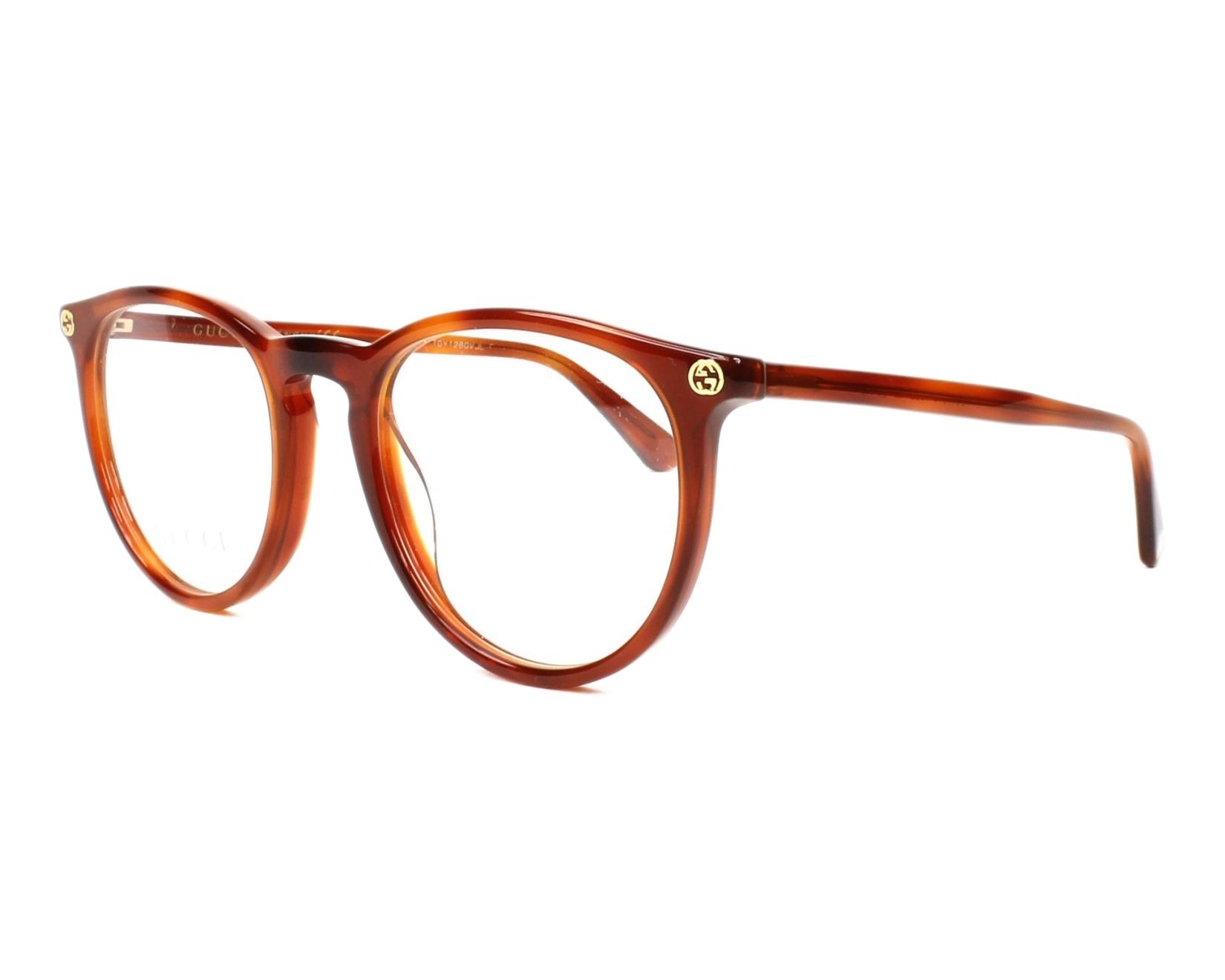 lunettes de vue gucci gg 00270 003 marron. Black Bedroom Furniture Sets. Home Design Ideas