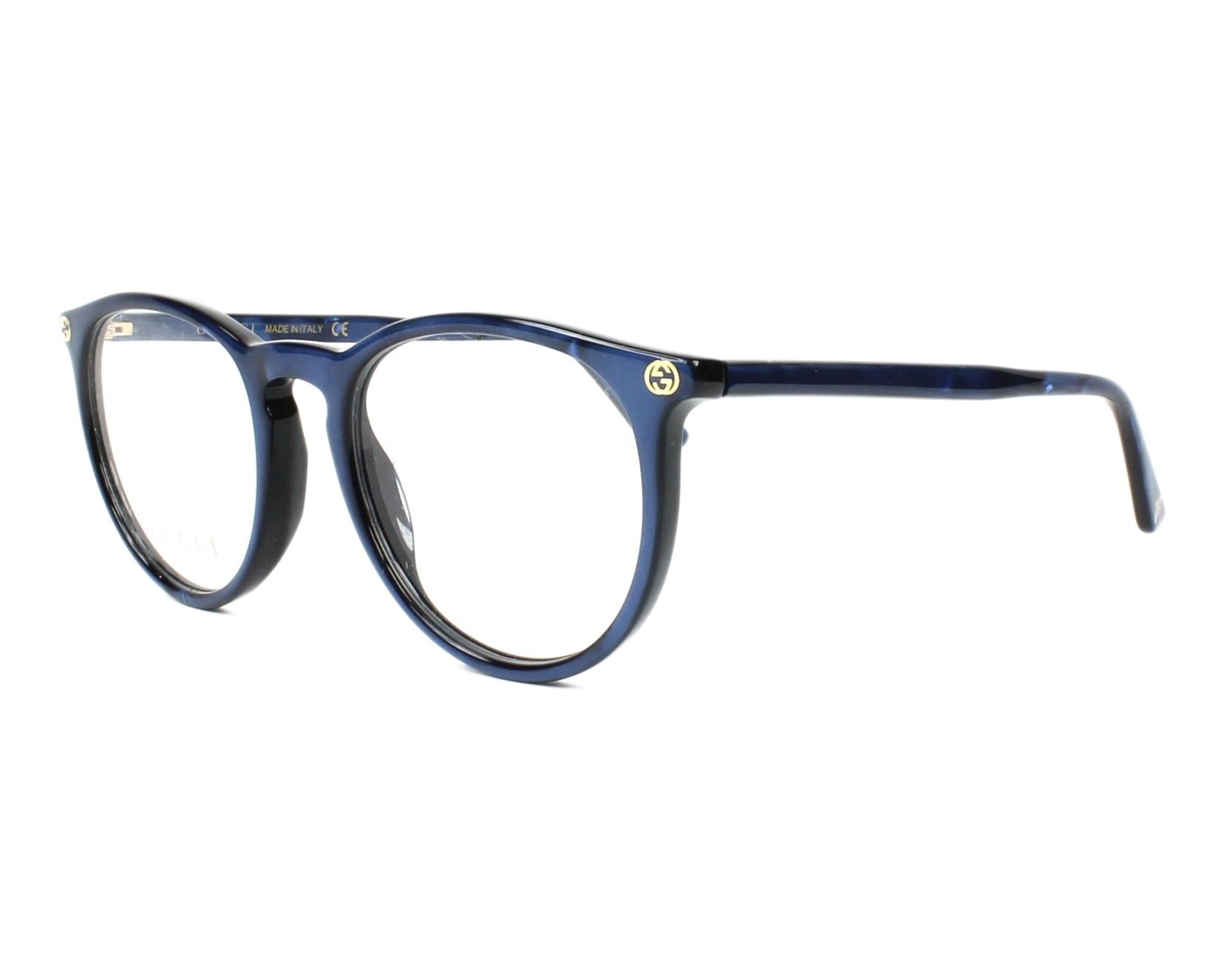 3c27e77a02 Lunettes de vue Gucci GG-00270 005 50-20 Bleu vue de profil