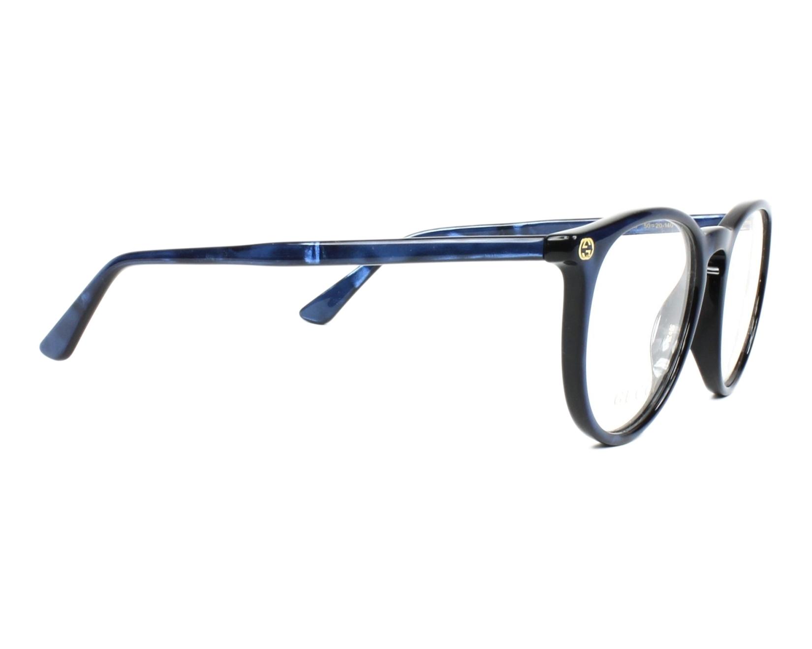 82766ca233 Lunettes de vue Gucci GG-00270 005 50-20 Bleu vue de côté