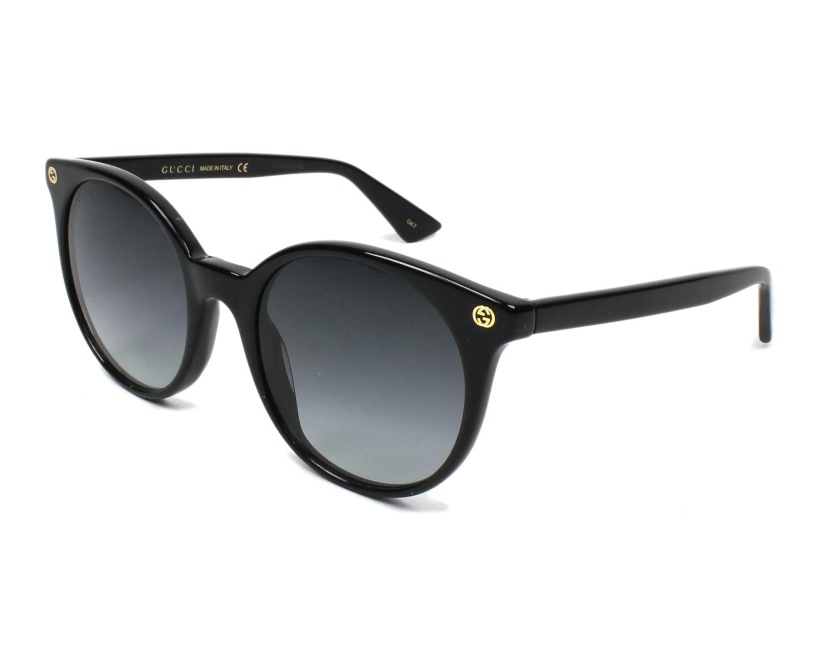 23e86fb169f Lunettes de soleil Gucci GG-0091-S 001 52-20 Noir vue de