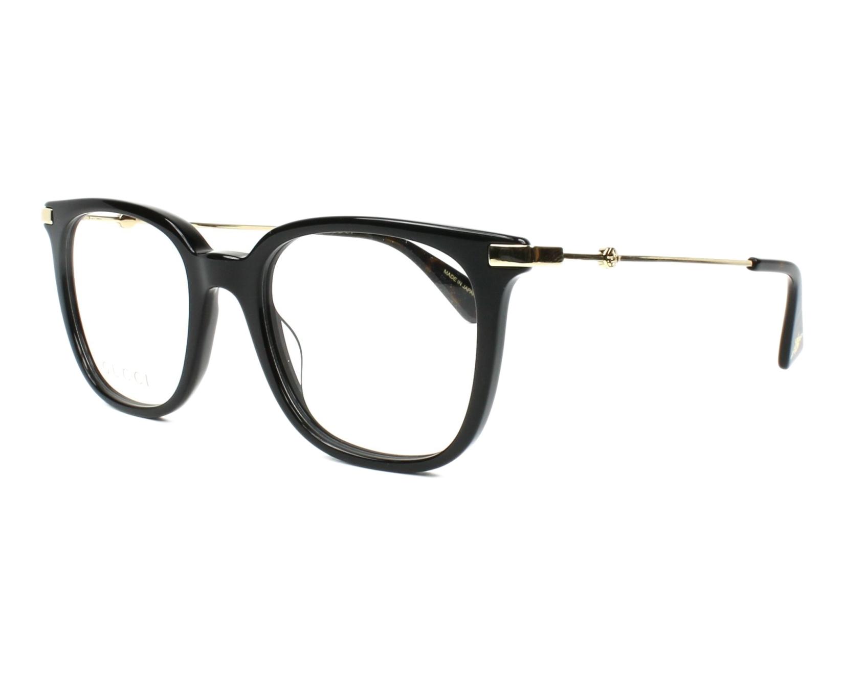 lunettes de vue gucci gg 01100 001 noir. Black Bedroom Furniture Sets. Home Design Ideas