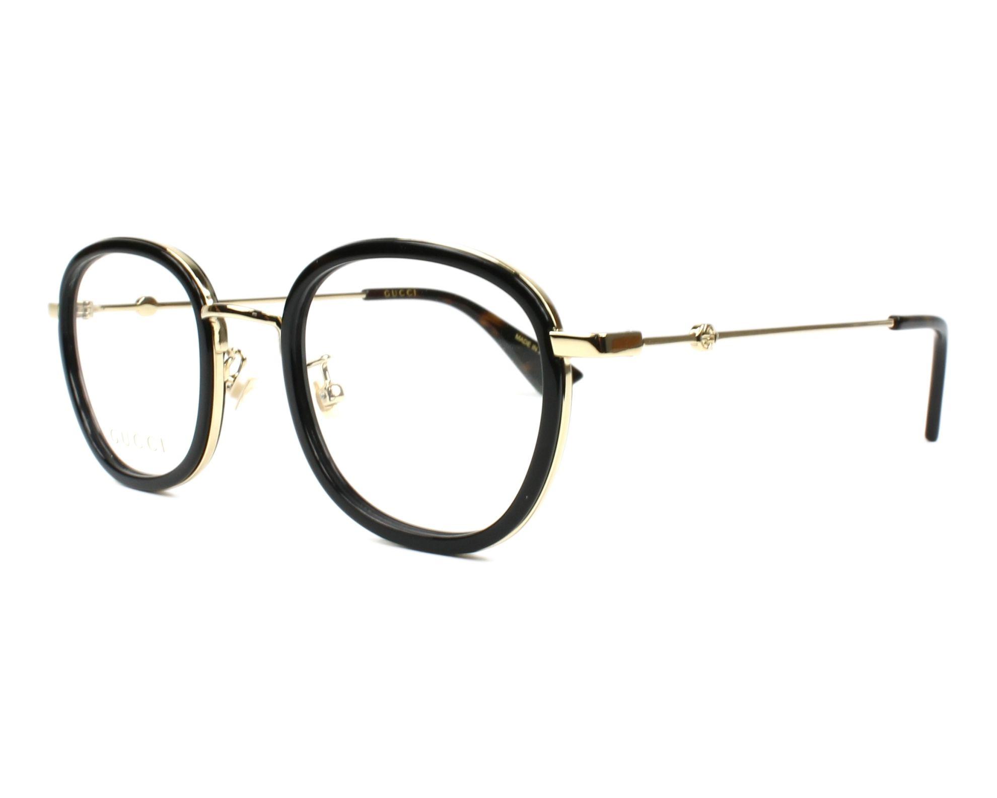 lunettes de vue gucci gg 0111 o 001 noir monture mixte. Black Bedroom Furniture Sets. Home Design Ideas