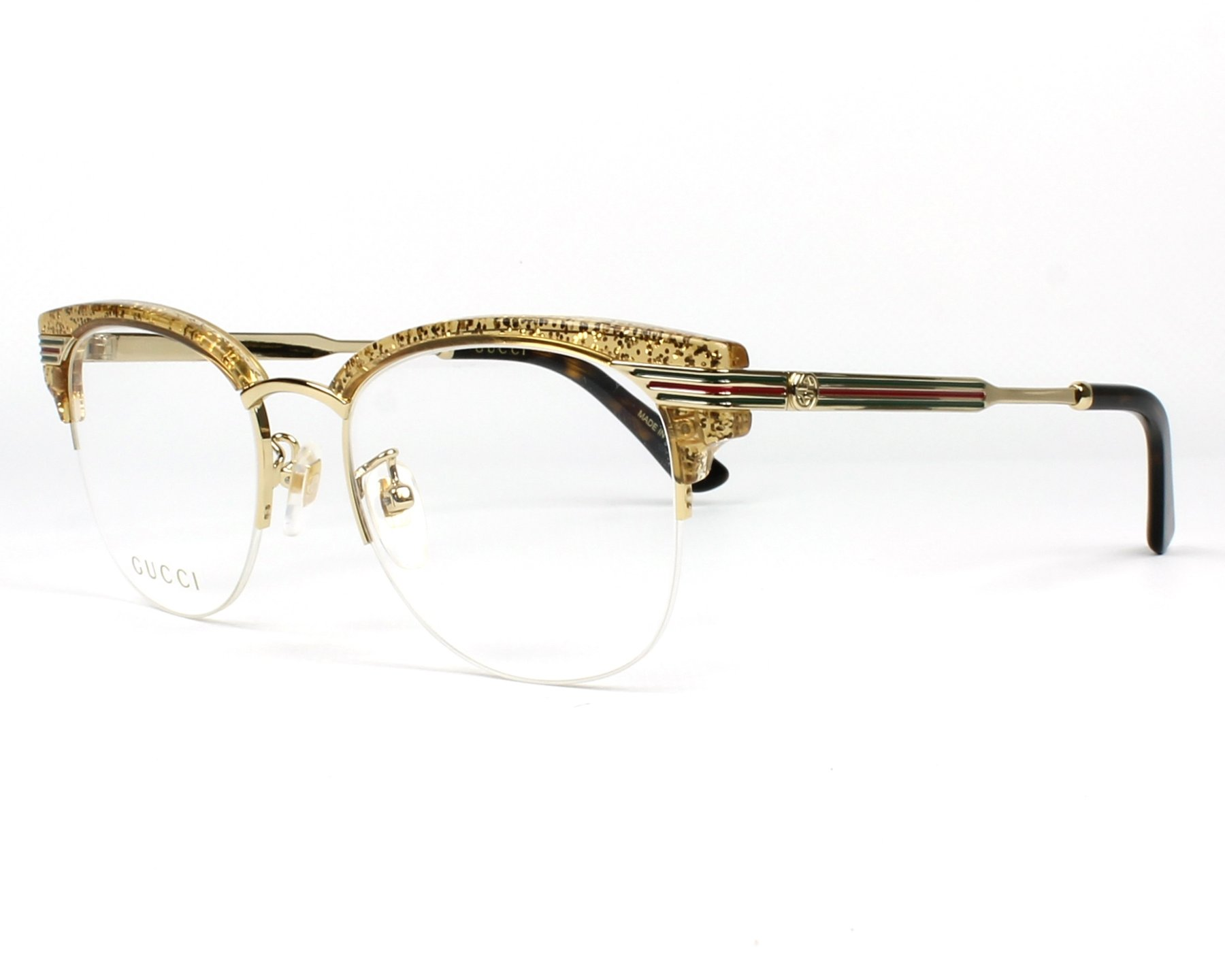 Gucci Eyeglasses Gg 0201 O 004 Gold Visionet