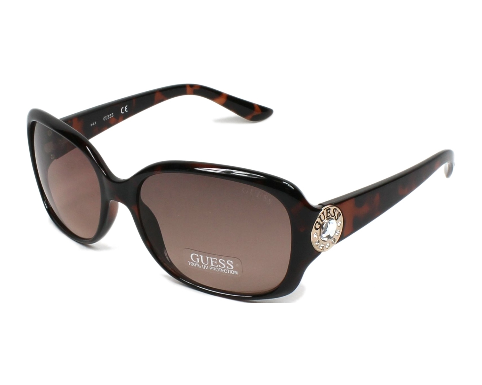 achetez des lunettes de soleil guess gf 0285 havane pas. Black Bedroom Furniture Sets. Home Design Ideas
