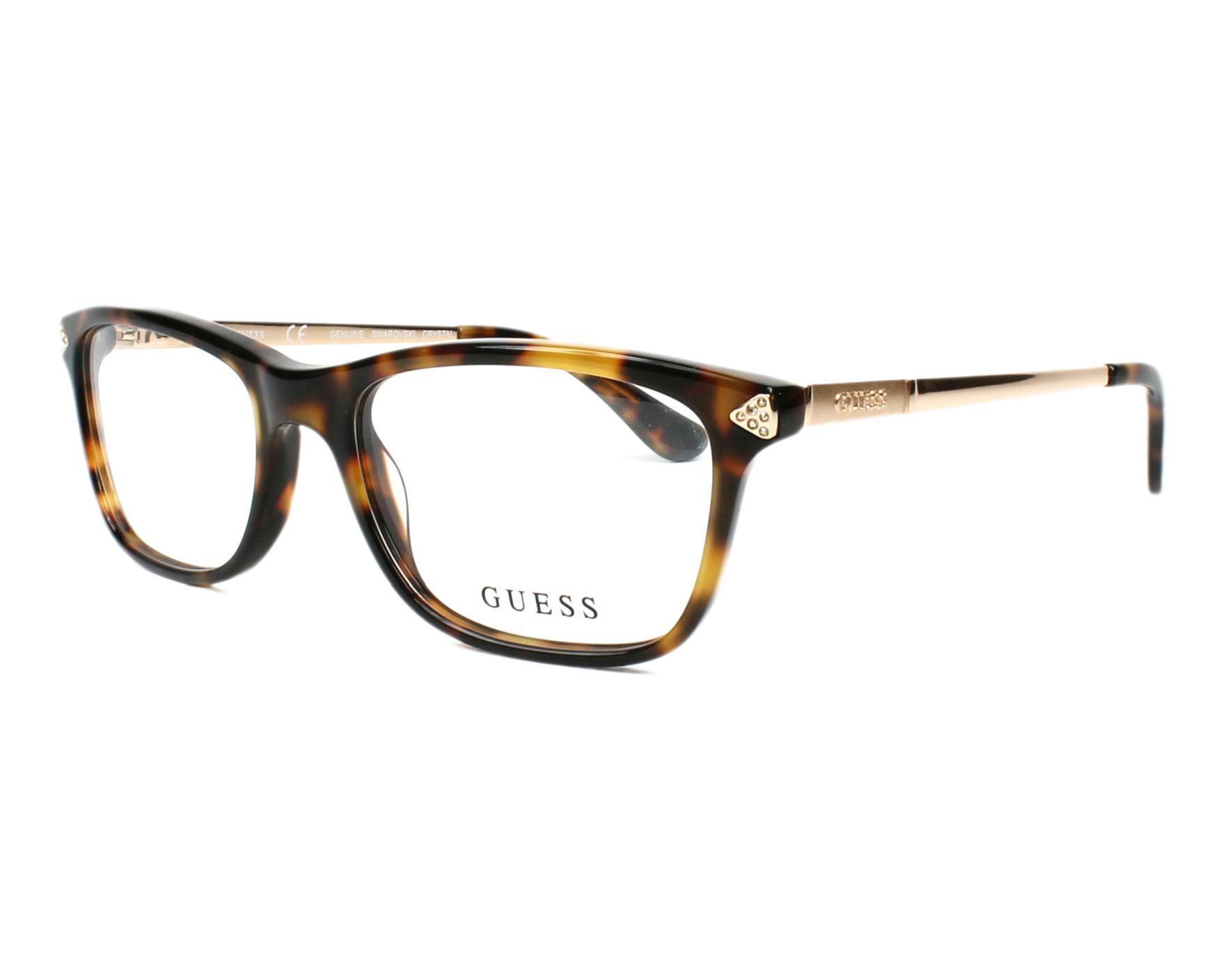 lunettes de vue guess gu 2631 052 havane. Black Bedroom Furniture Sets. Home Design Ideas