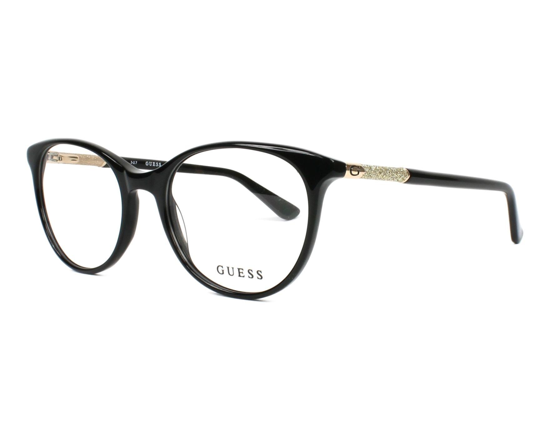 lunettes de vue guess gu 2657 005 noir monture femmes. Black Bedroom Furniture Sets. Home Design Ideas