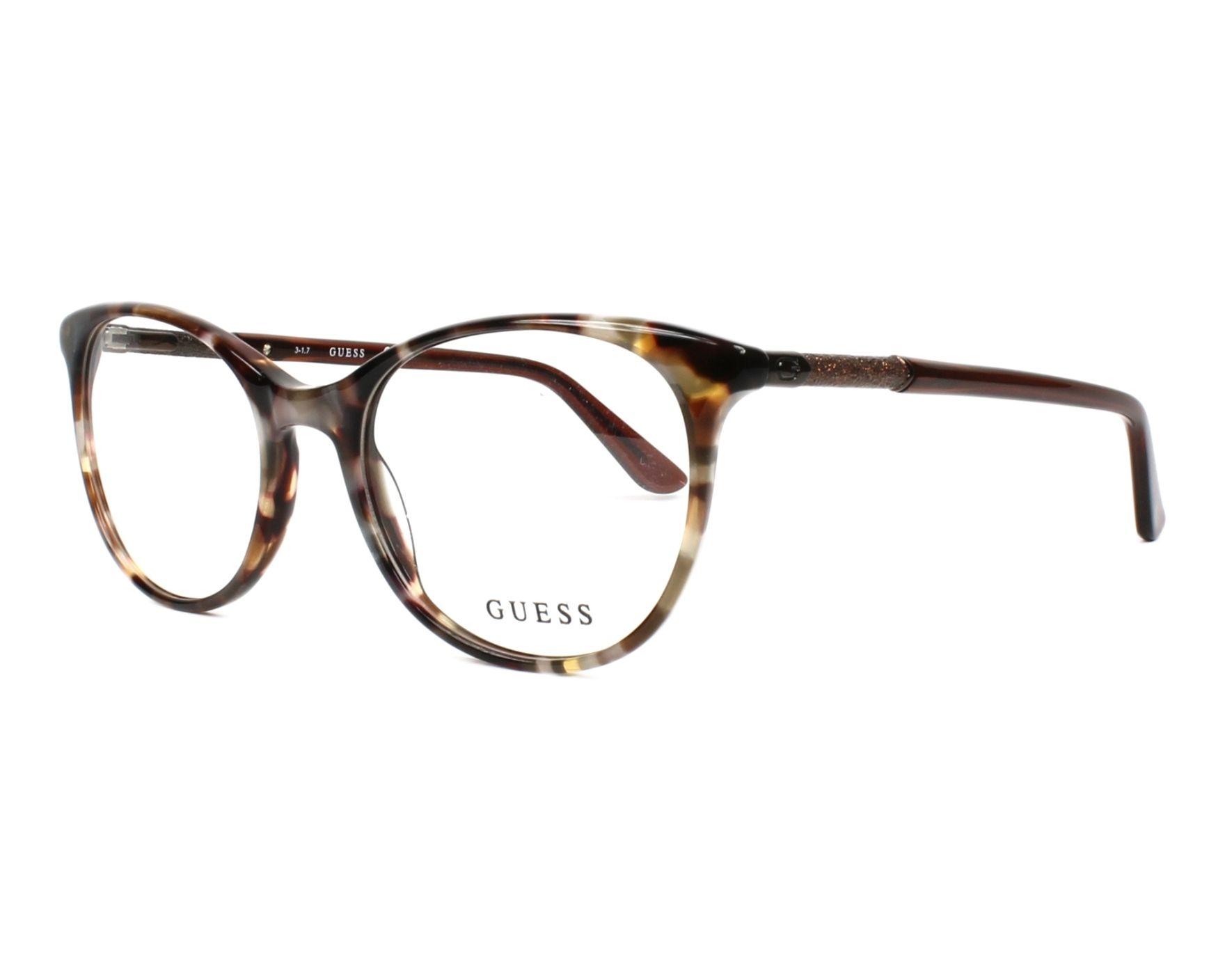 lunettes de vue guess gu 2657 053 marron. Black Bedroom Furniture Sets. Home Design Ideas