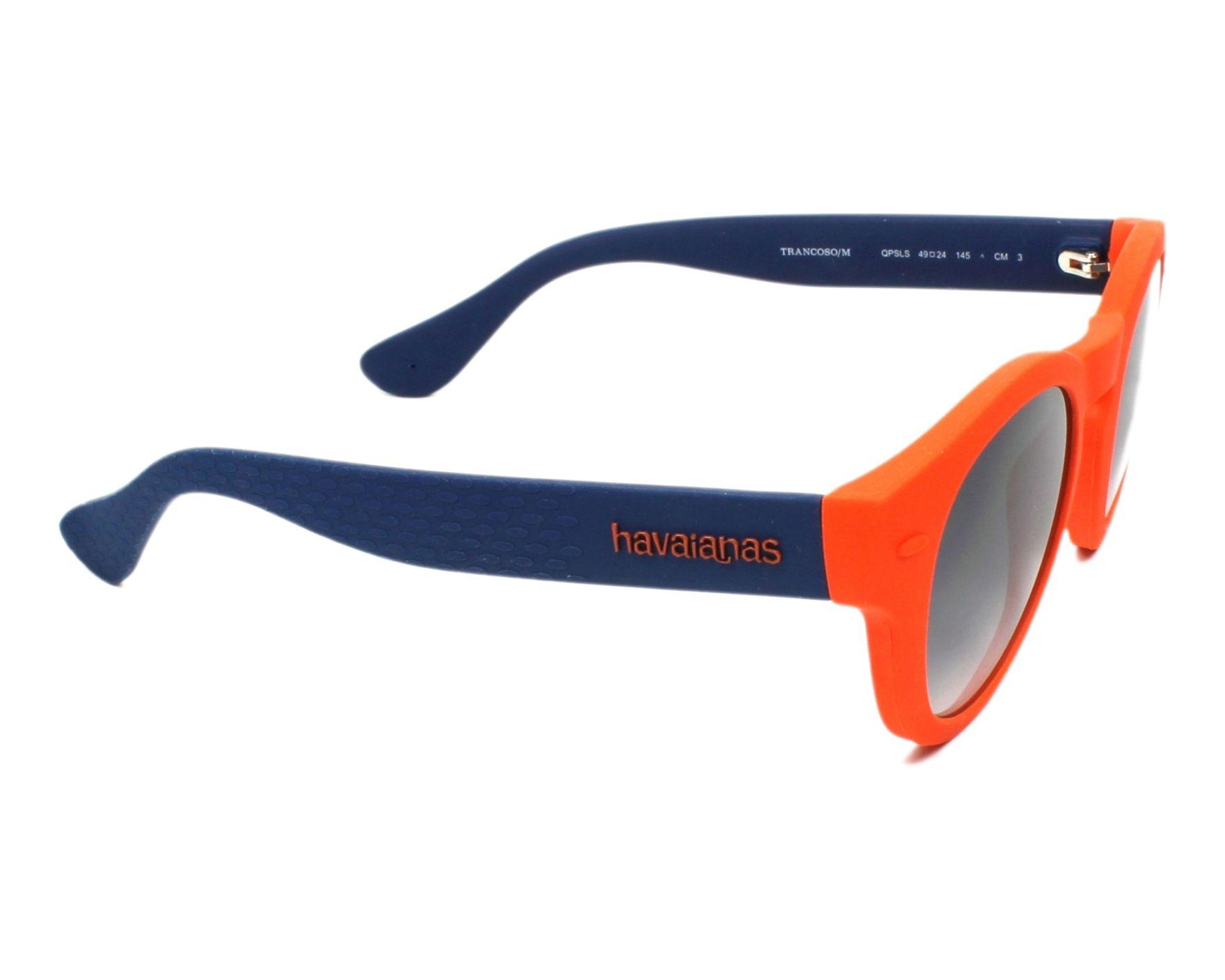 5ece0b564b5 Lunettes de soleil Havaianas TRANSCOSO-M QPS LS 49-24 Orange Bleu vue