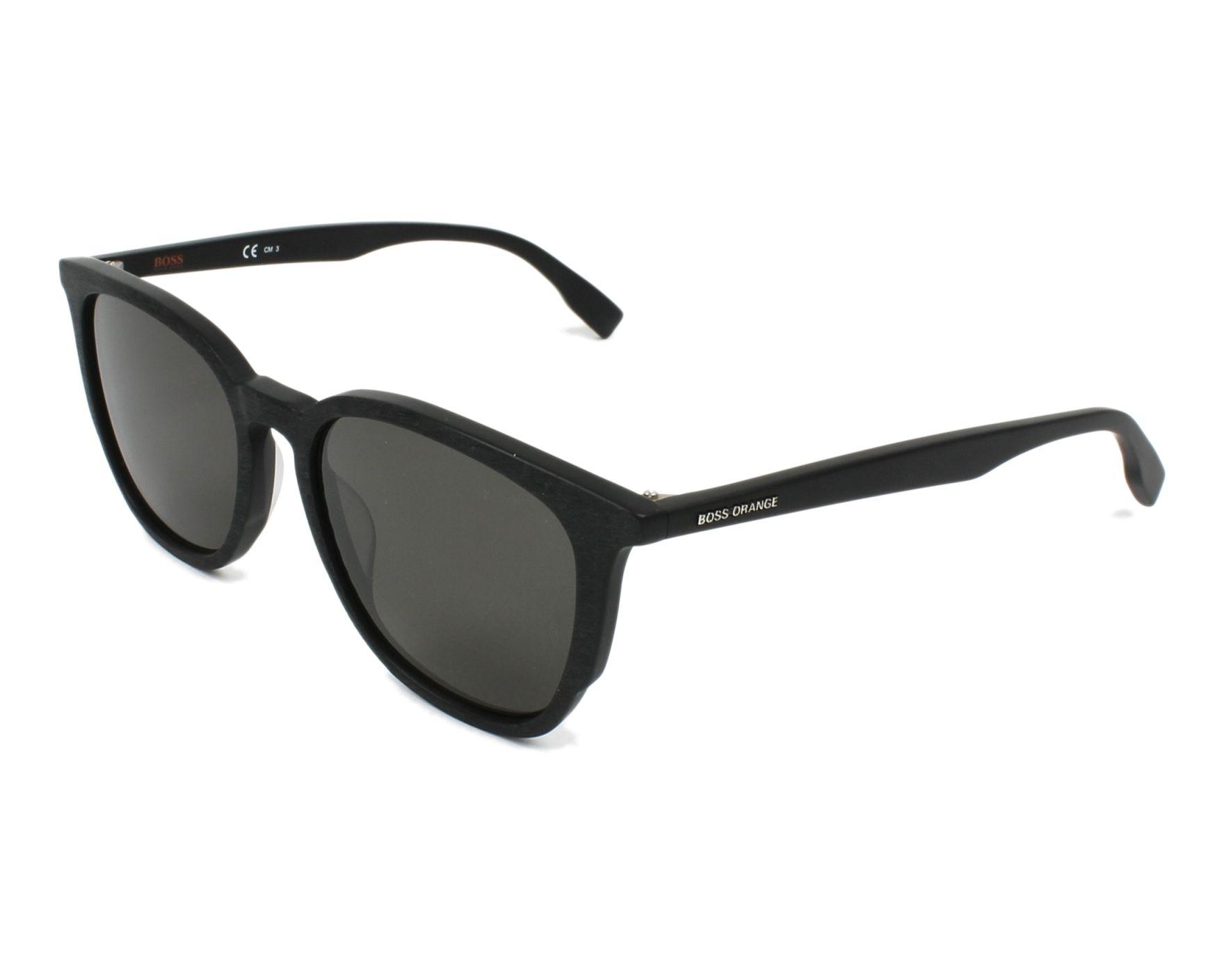 Lunettes de soleil hugo boss bo 0300 s 003 ir noir avec des verres gris marron - Verre lunette raye assurance ...