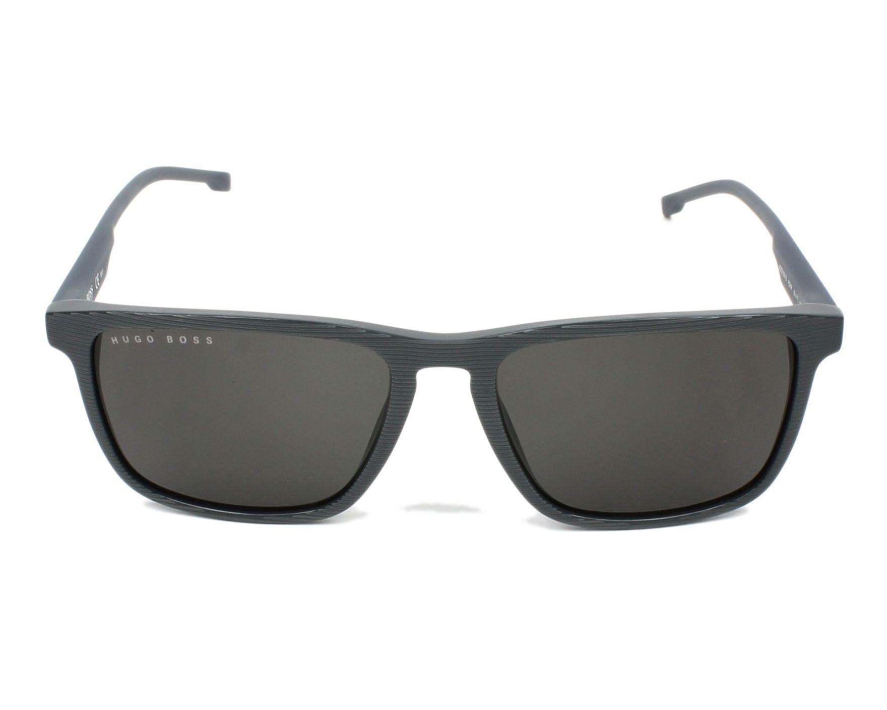 Lunettes de soleil hugo boss boss 0921 s pzh ir gris avec des verres gris - Verre lunette raye assurance ...