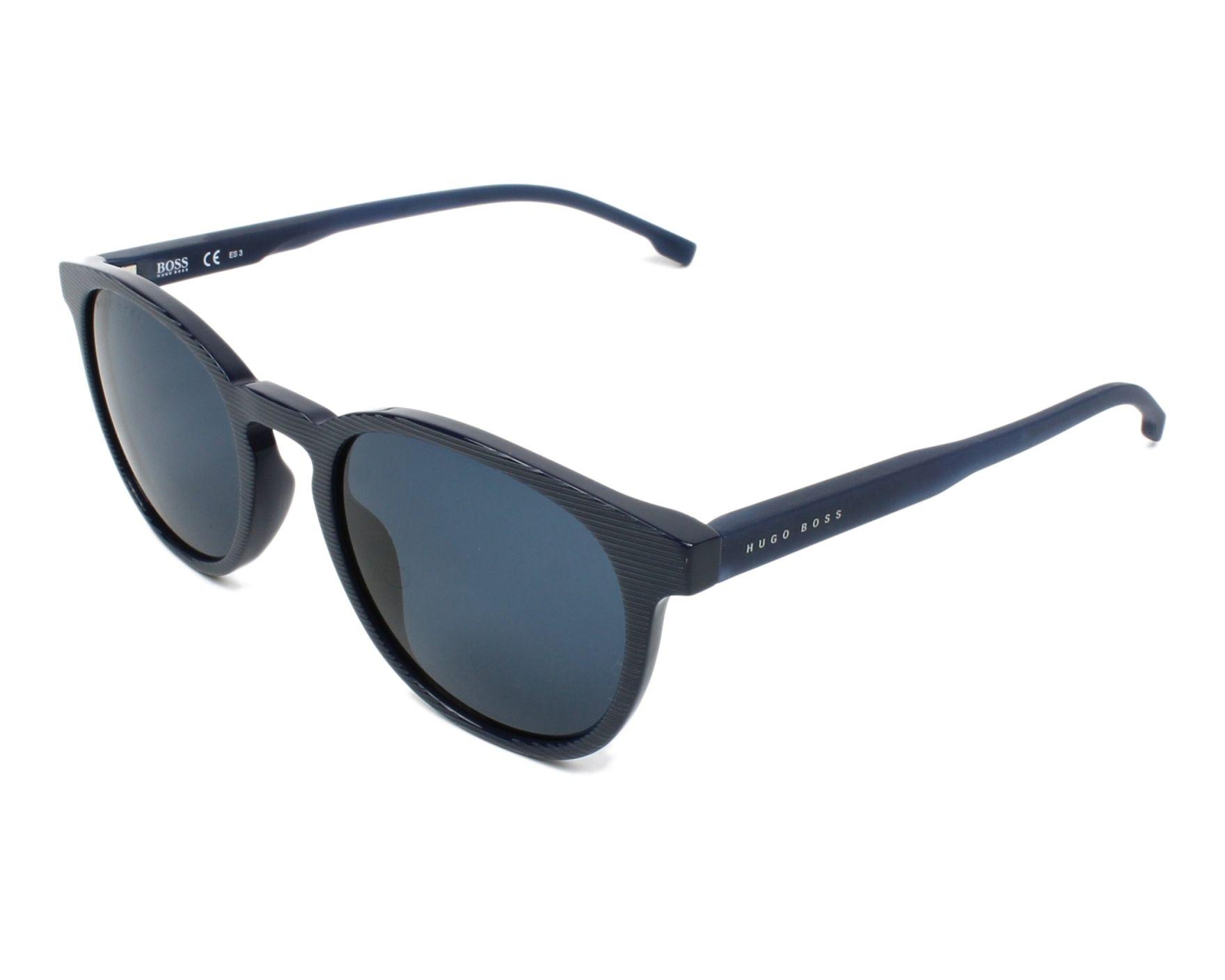 lunettes de soleil hugo boss boss 0922 s avs ku bleu avec des verres bleu gris pour hommes. Black Bedroom Furniture Sets. Home Design Ideas