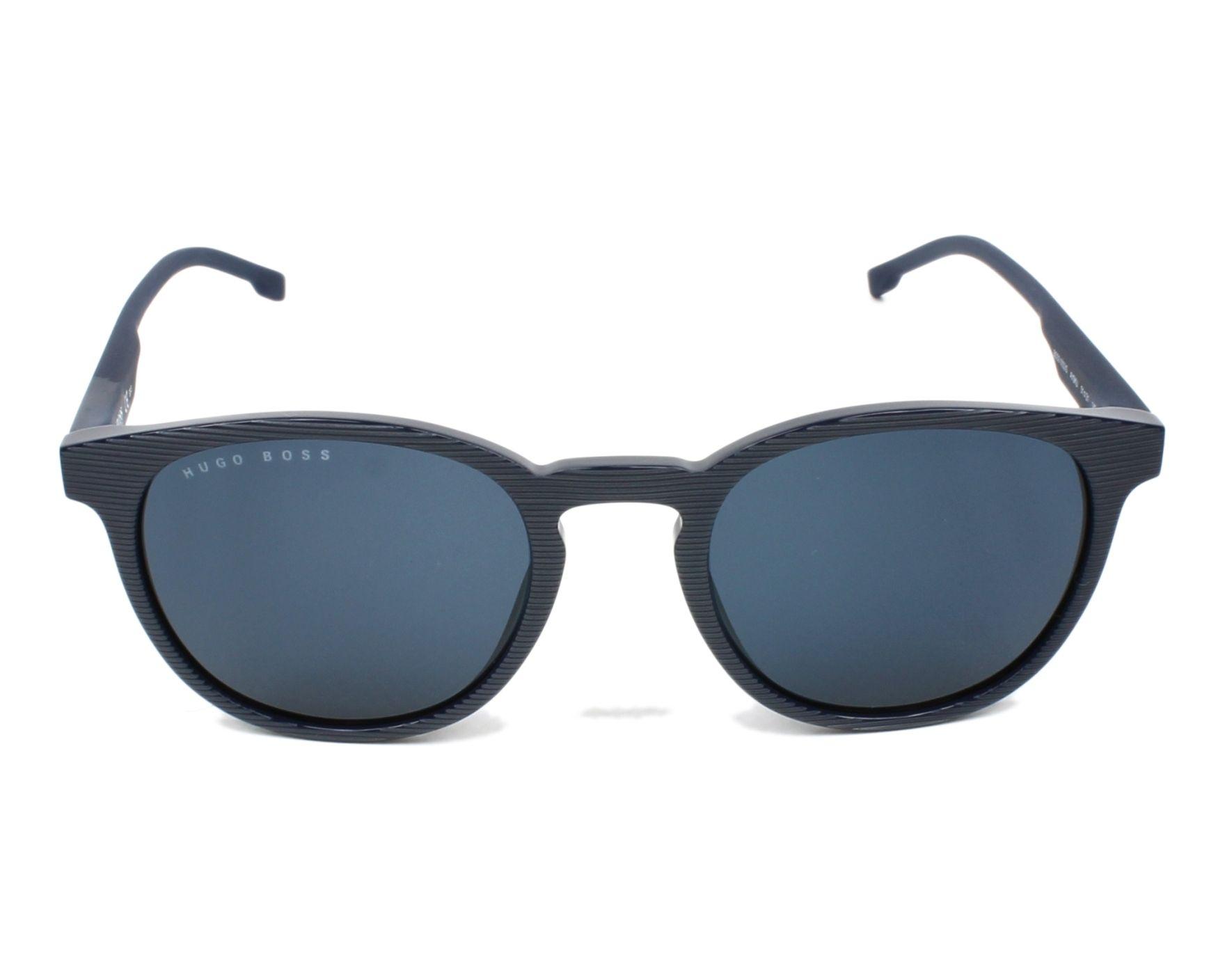 Lunettes de soleil hugo boss boss 0922 s avs ku bleu avec des verres bleu gris pour hommes - Verre lunette raye assurance ...