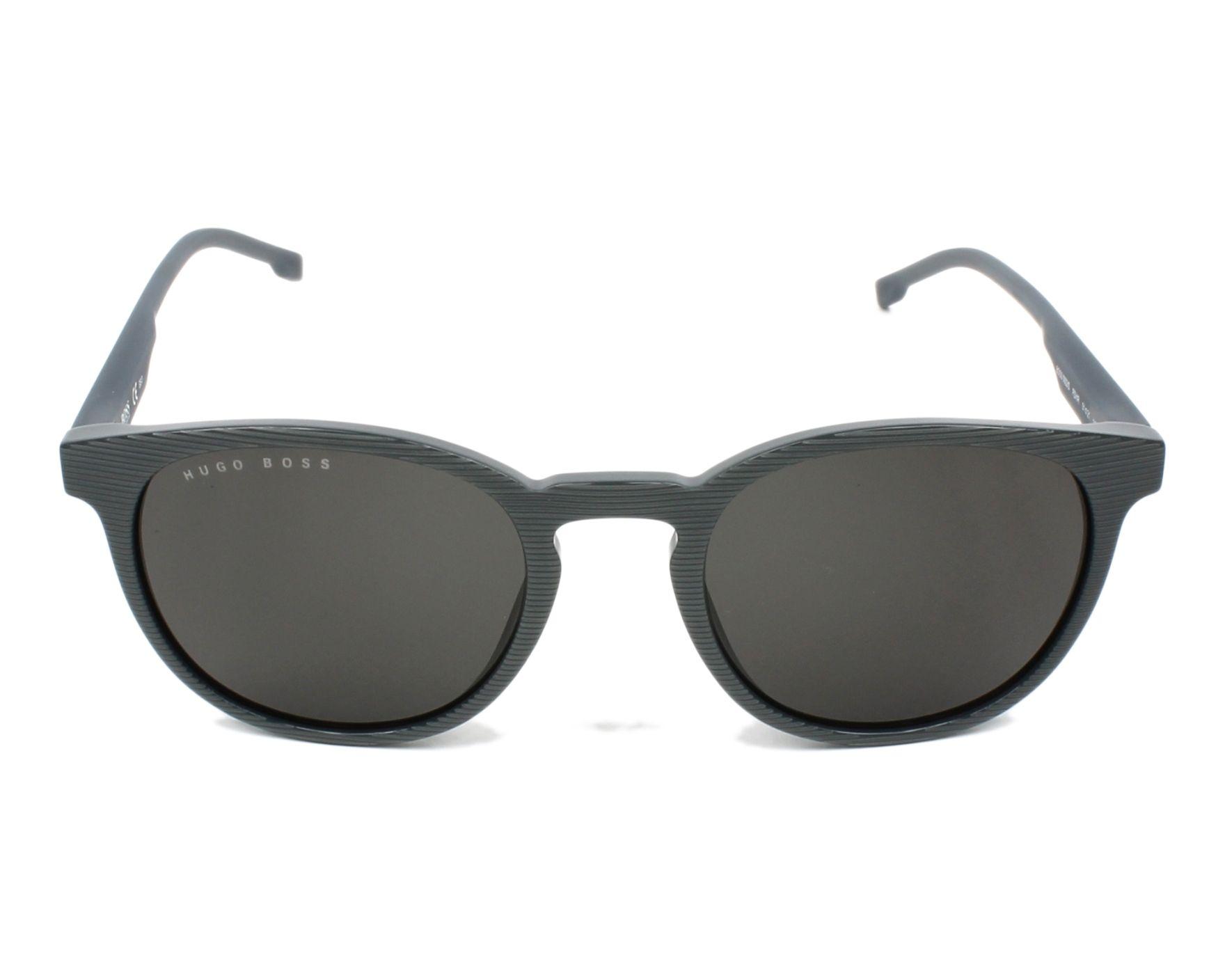 Lunettes de soleil hugo boss boss 0922 s pzh ir gris avec des verres gris - Verre lunette raye assurance ...