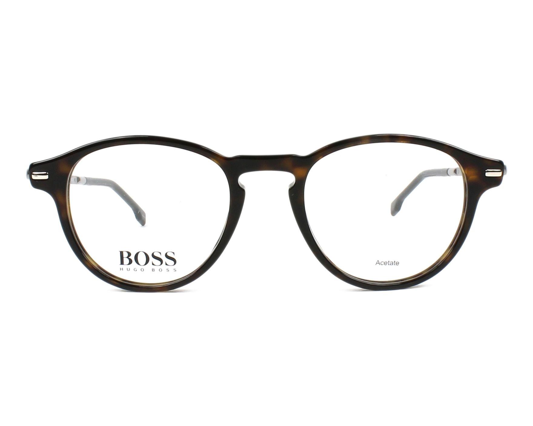 bfee0c44ad4 Lunettes de vue Hugo Boss BOSS-0932 086 48-20 Havane Argent vue de